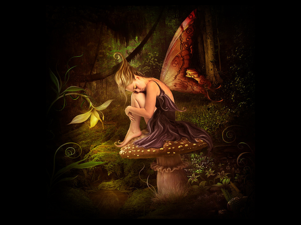 Surprising Free Fairy Wallpaper 1024x768px