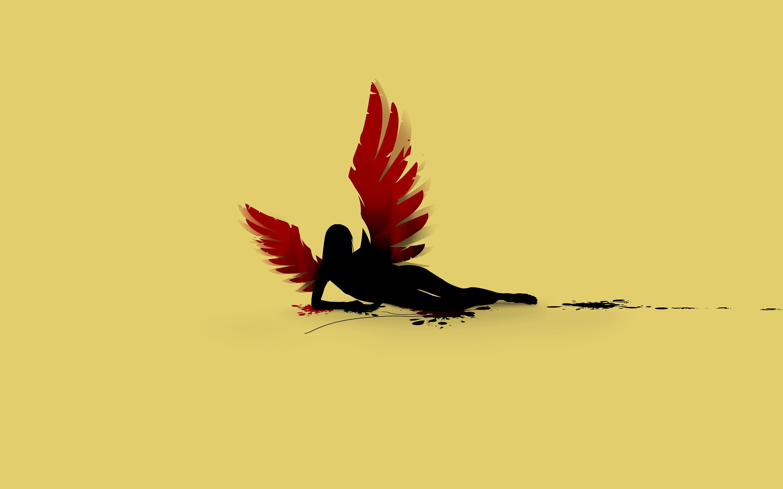 Fallen angel minimalistic