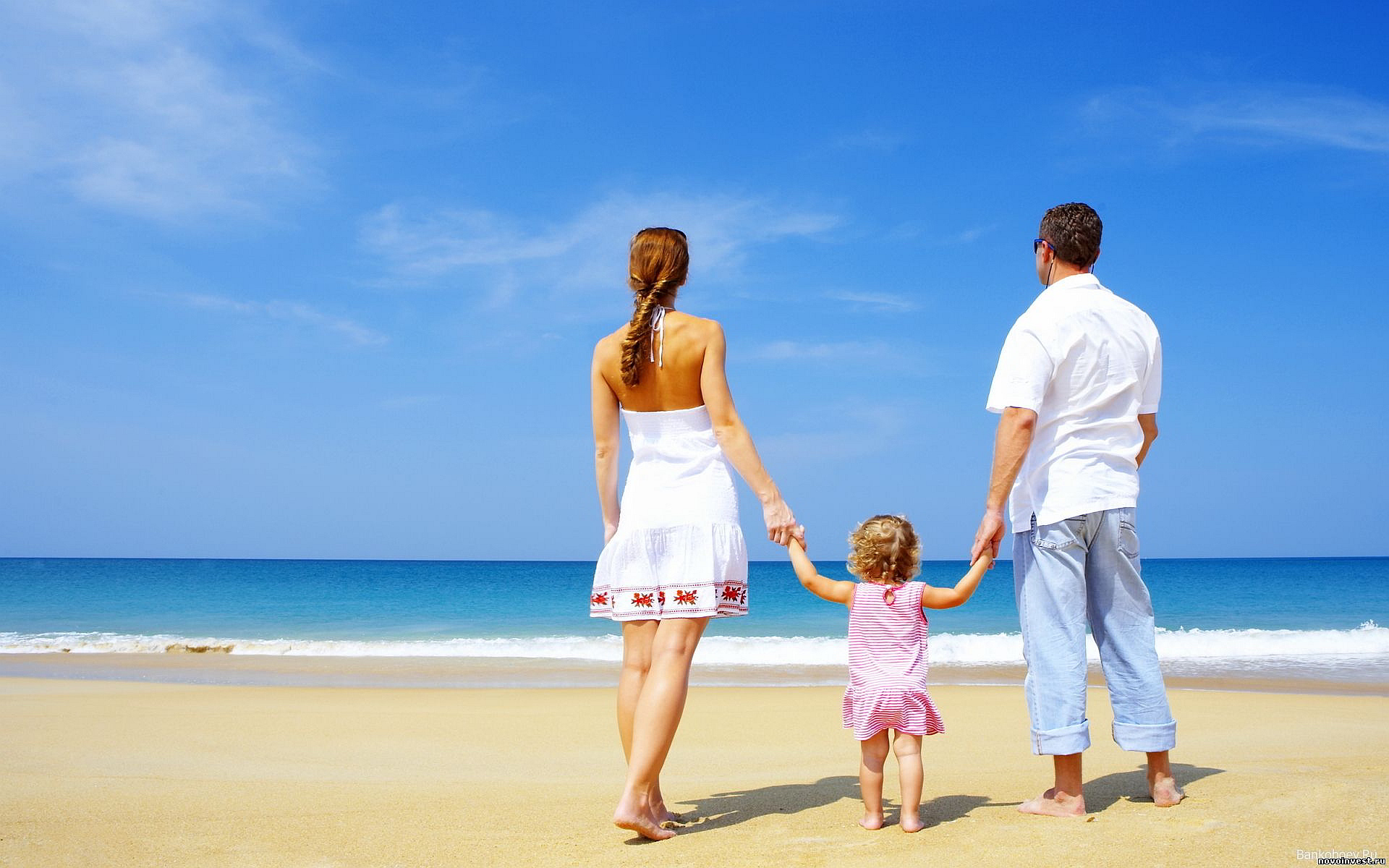 Family Walk Beach