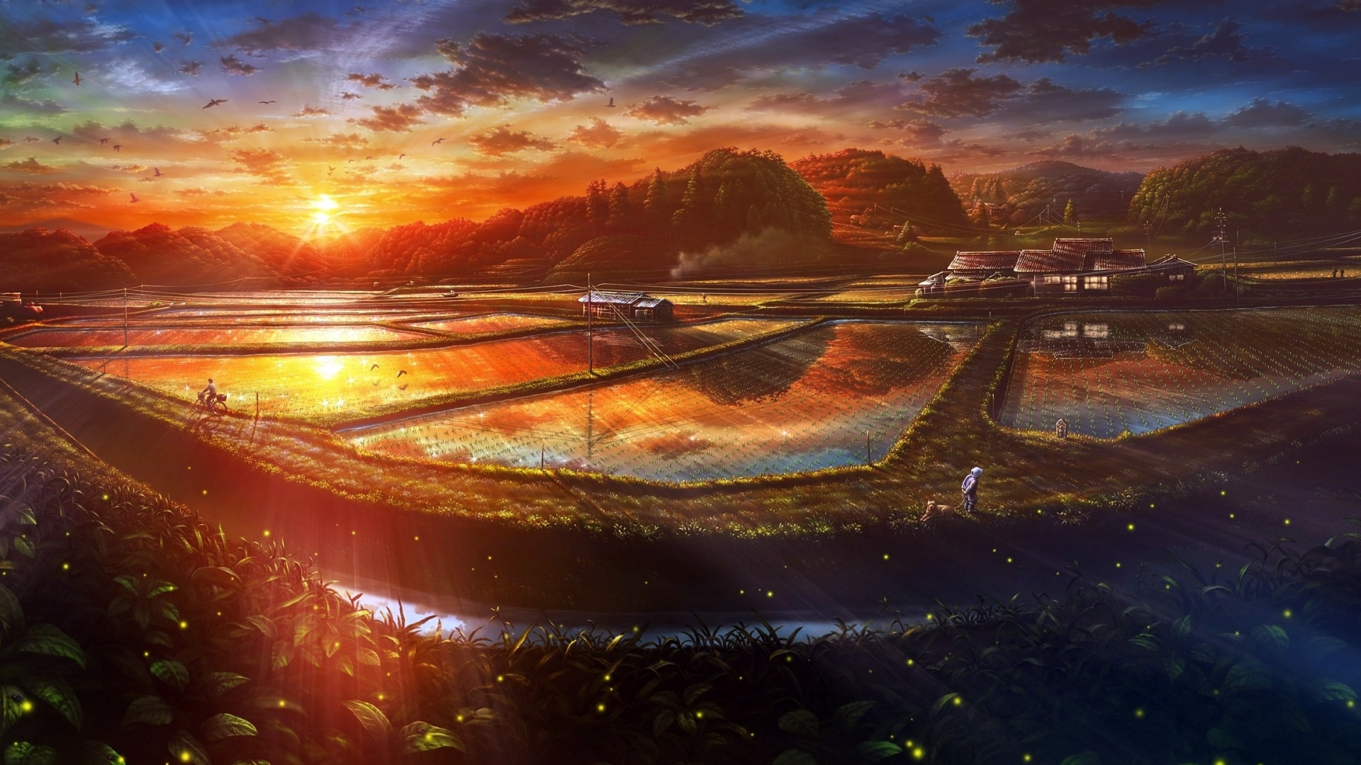 Fantastic Anime Scenery Wallpaper