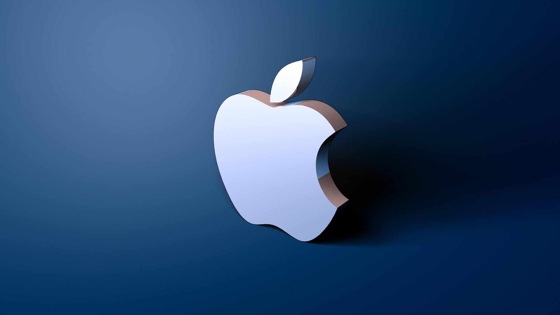 Fantastic Apple 3D Logo Wallpaper