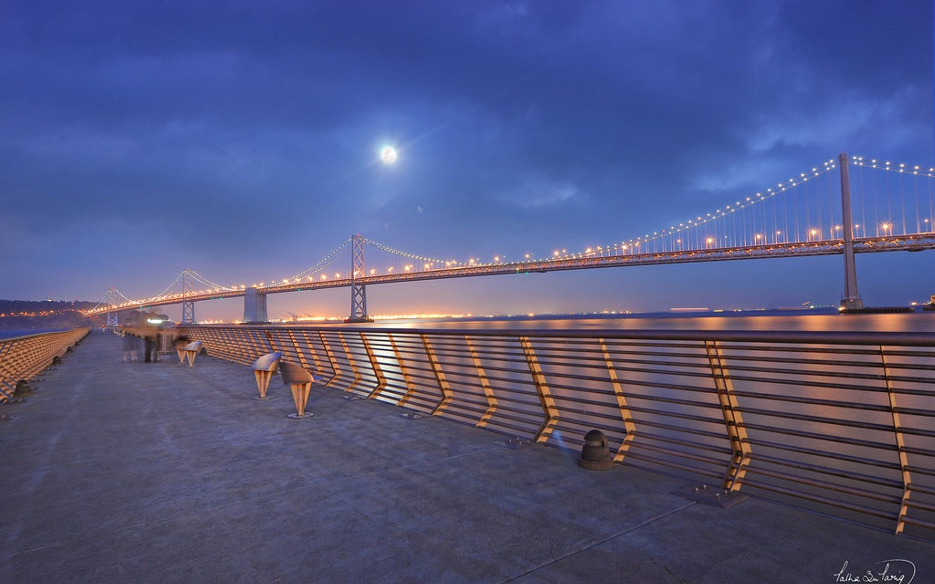 Bay Bridge Hd Wallpapers 1080p: Hd Fantastic Bay Bridge from Waterfront Wallpaper Download Free 1920x1200px