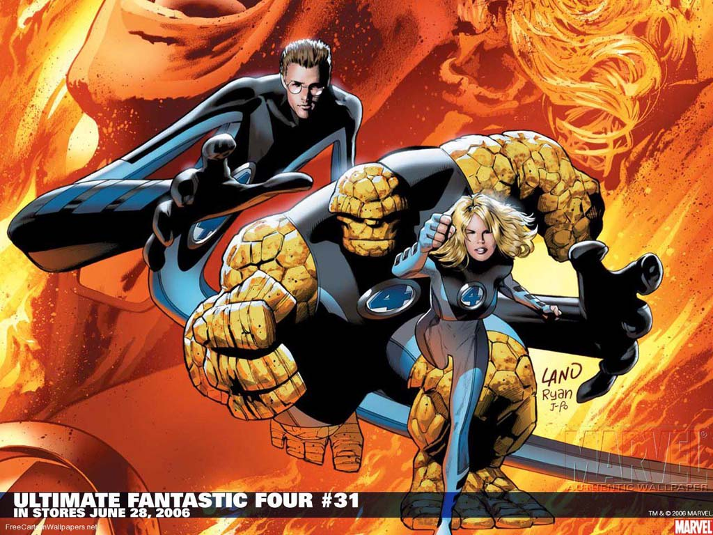 Fascinating Download Fantastic Four Comics Cartoon Wallpaper 1024x768px