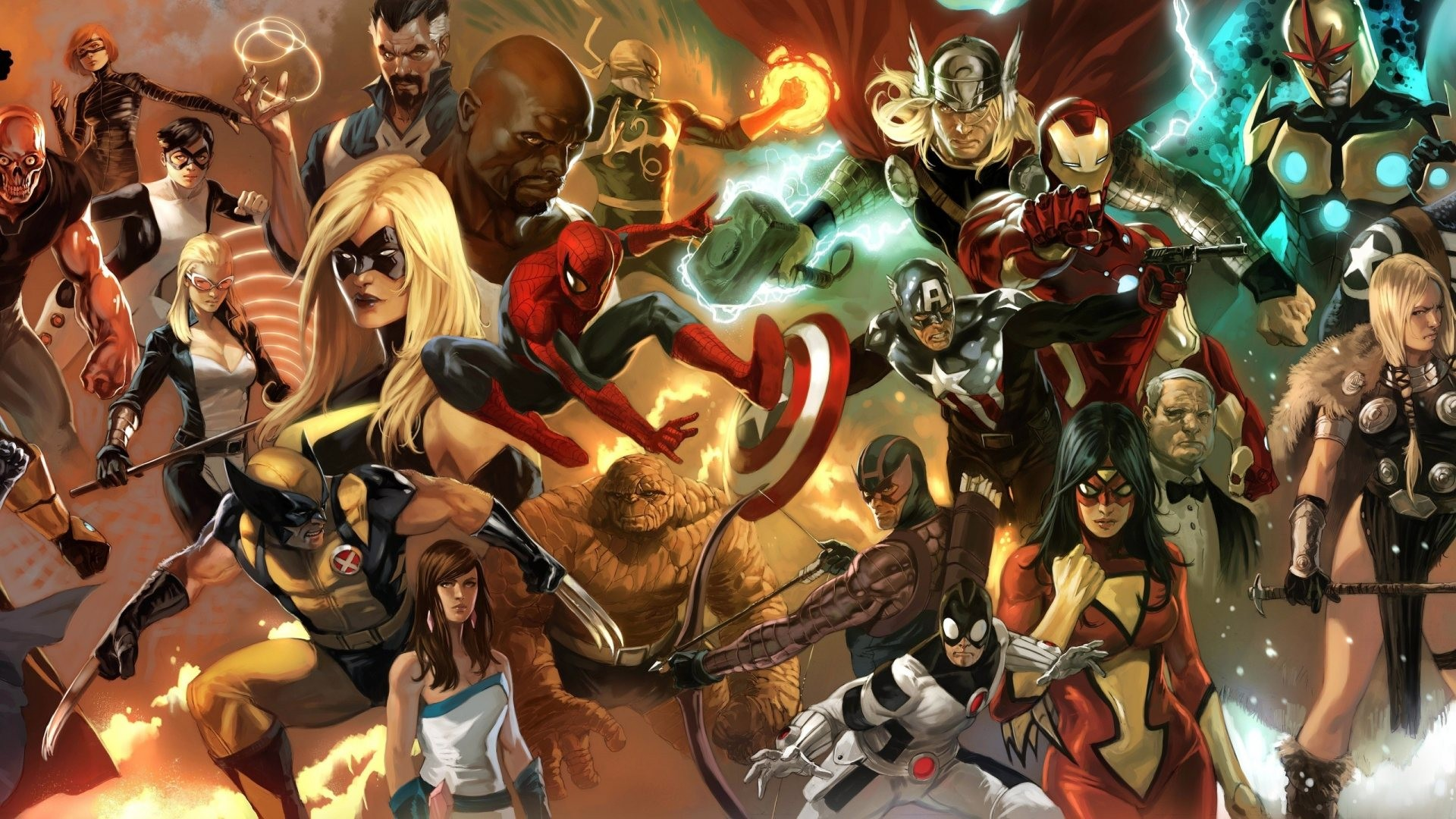 Comics Doctor Strange Fantastic Four Hawkeye Iron Fist Iron Man Luke Cage Marvel Marvel Comics Mockingbird Ms. Marvel Nova Richard Rider Spider-Man ...