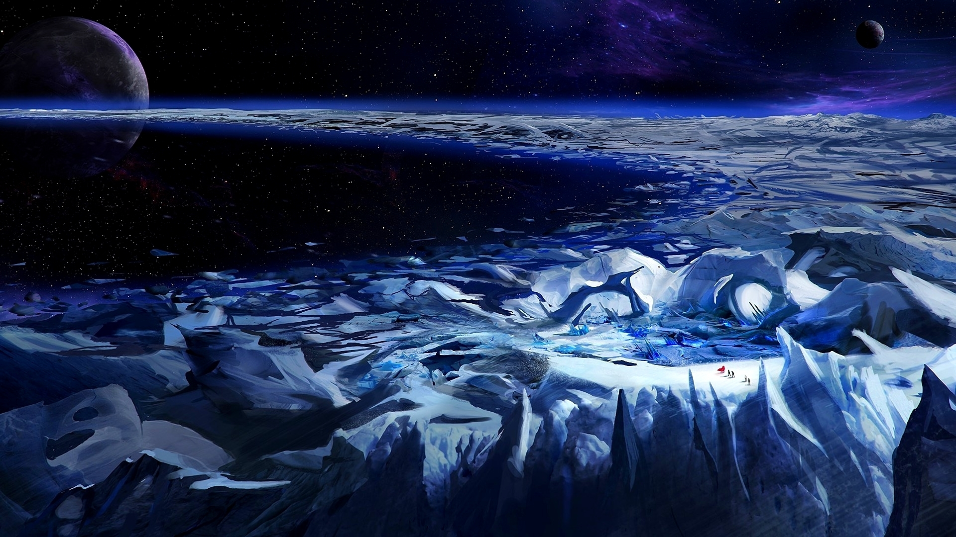 Fantastic world Planets Snow Fantasy Wallpapers and photos