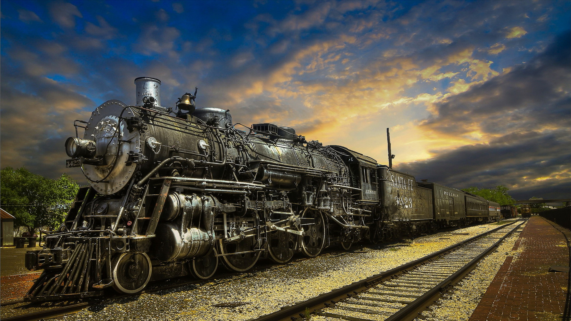 Fantastic Santa Fe Steam Train Hdr Hd Desktop Background HD wallpapers