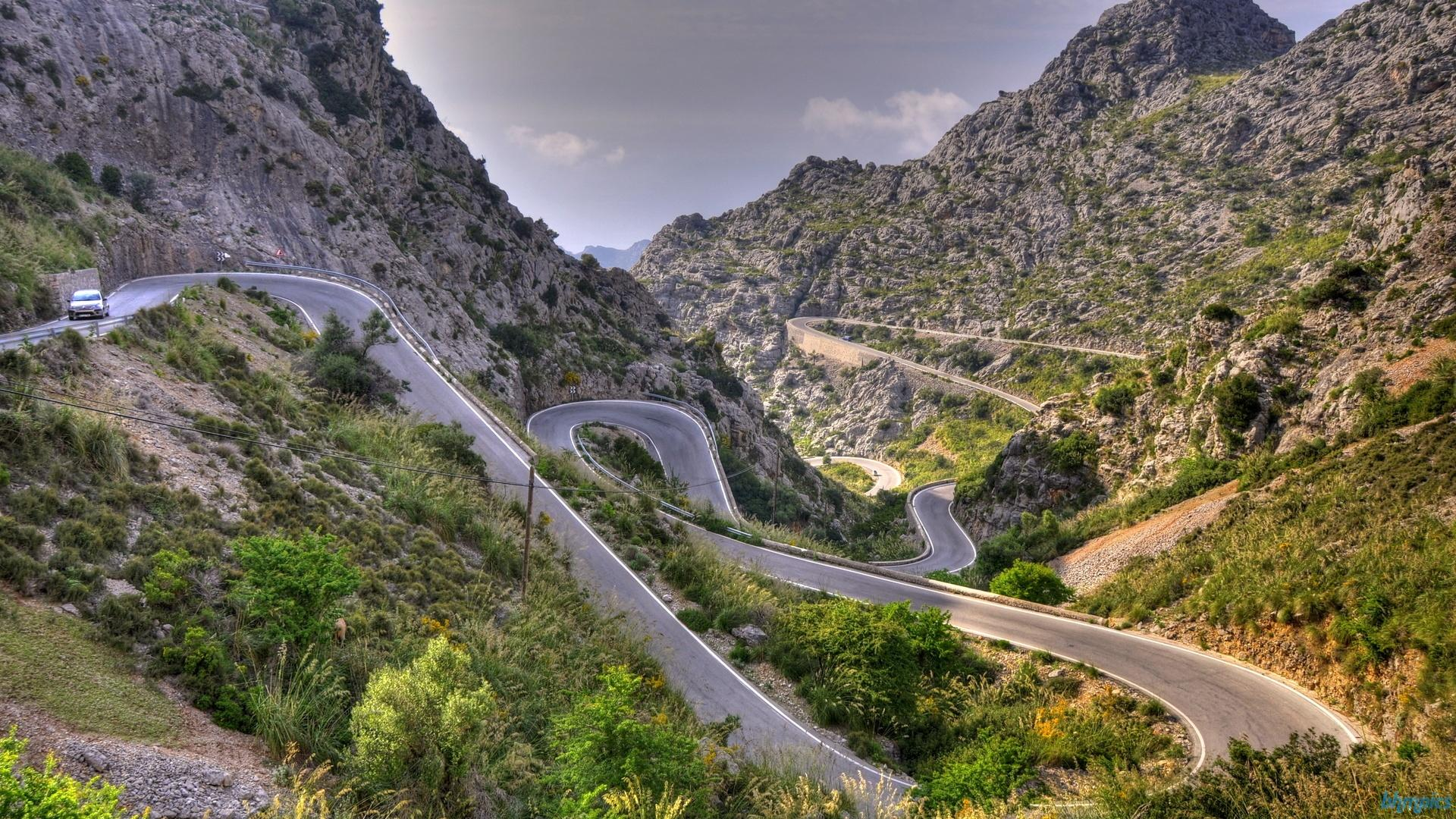 Fantastic Calobra Mountain Road In Spain Hdr Wallpaper #63994 - Resolution 1920x1080 px