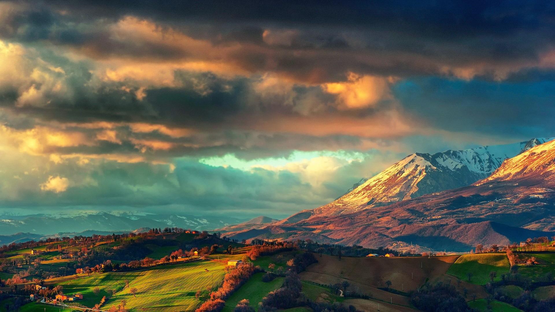 Fantastic Mountain Village Wallpaper 38566 1920x1080 px