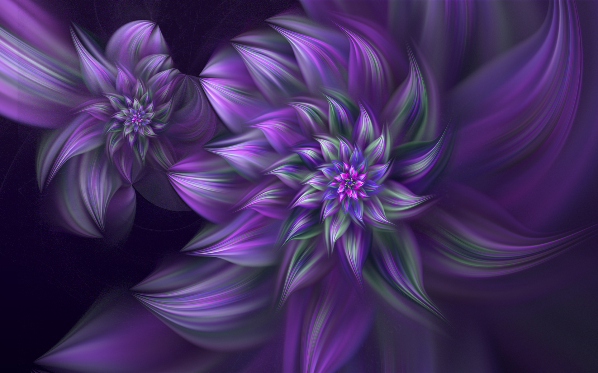 Fantastic Purple Flowers Wallpaper 10340
