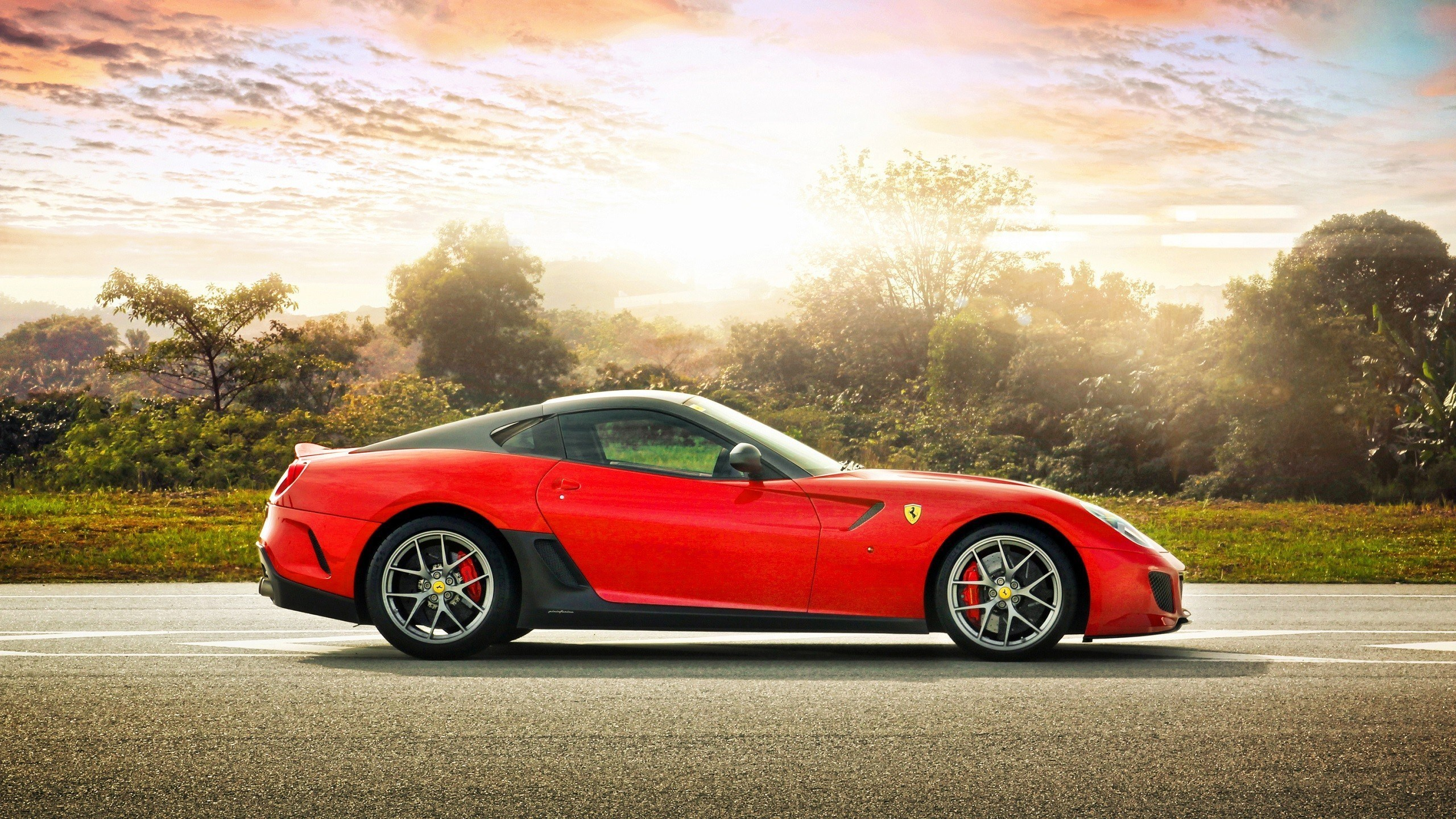 Fantastic Red Ferrari Wallpaper
