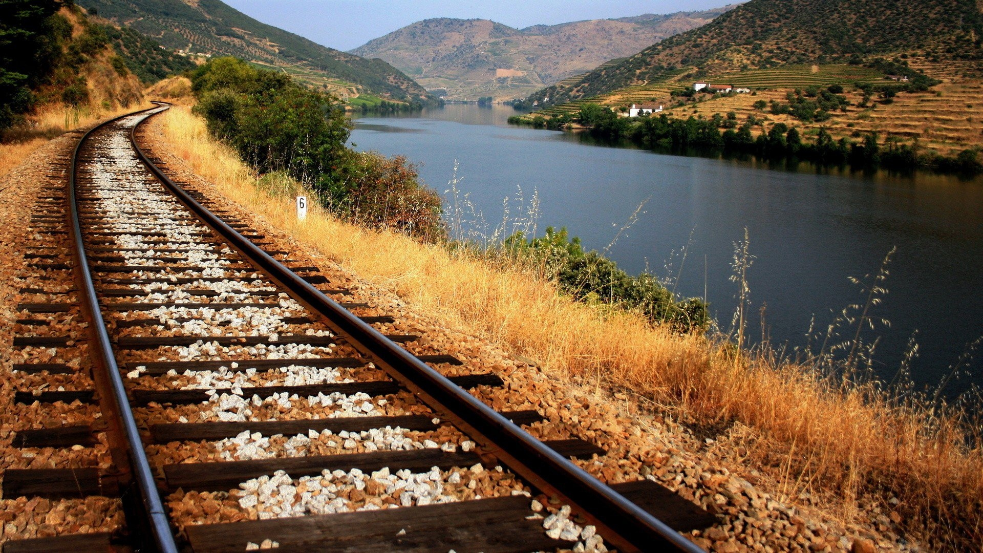 Fantastic Train Track Wallpaper