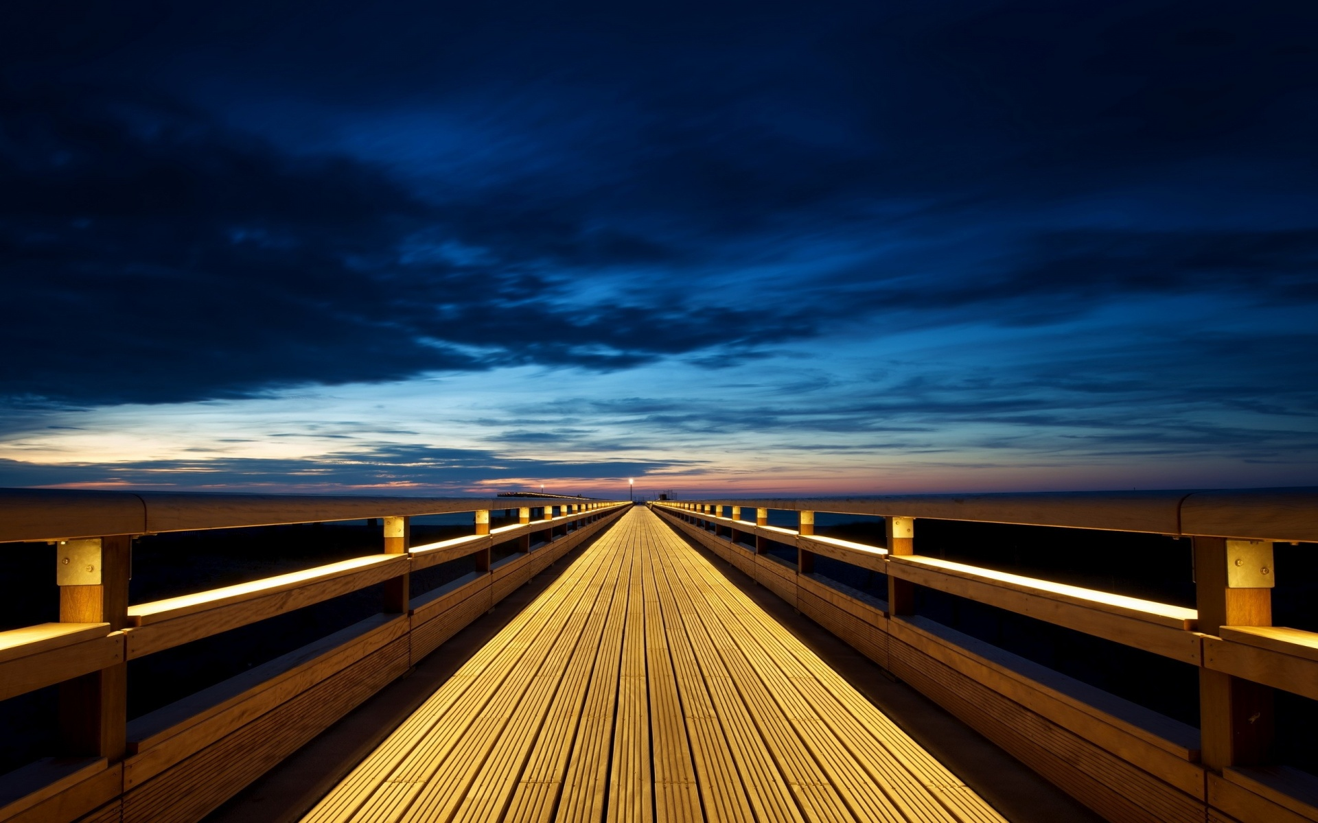 Fantastic Wooden Path Wallpaper