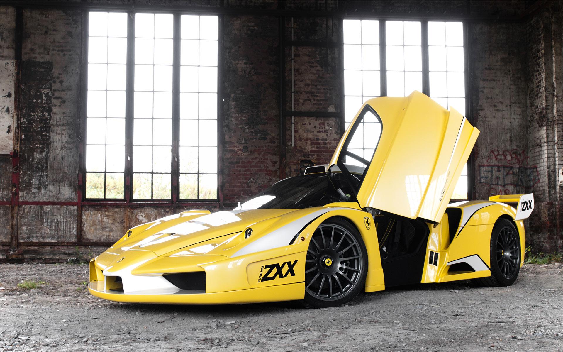 Fantastic Yellow Ferrari Wallpaper