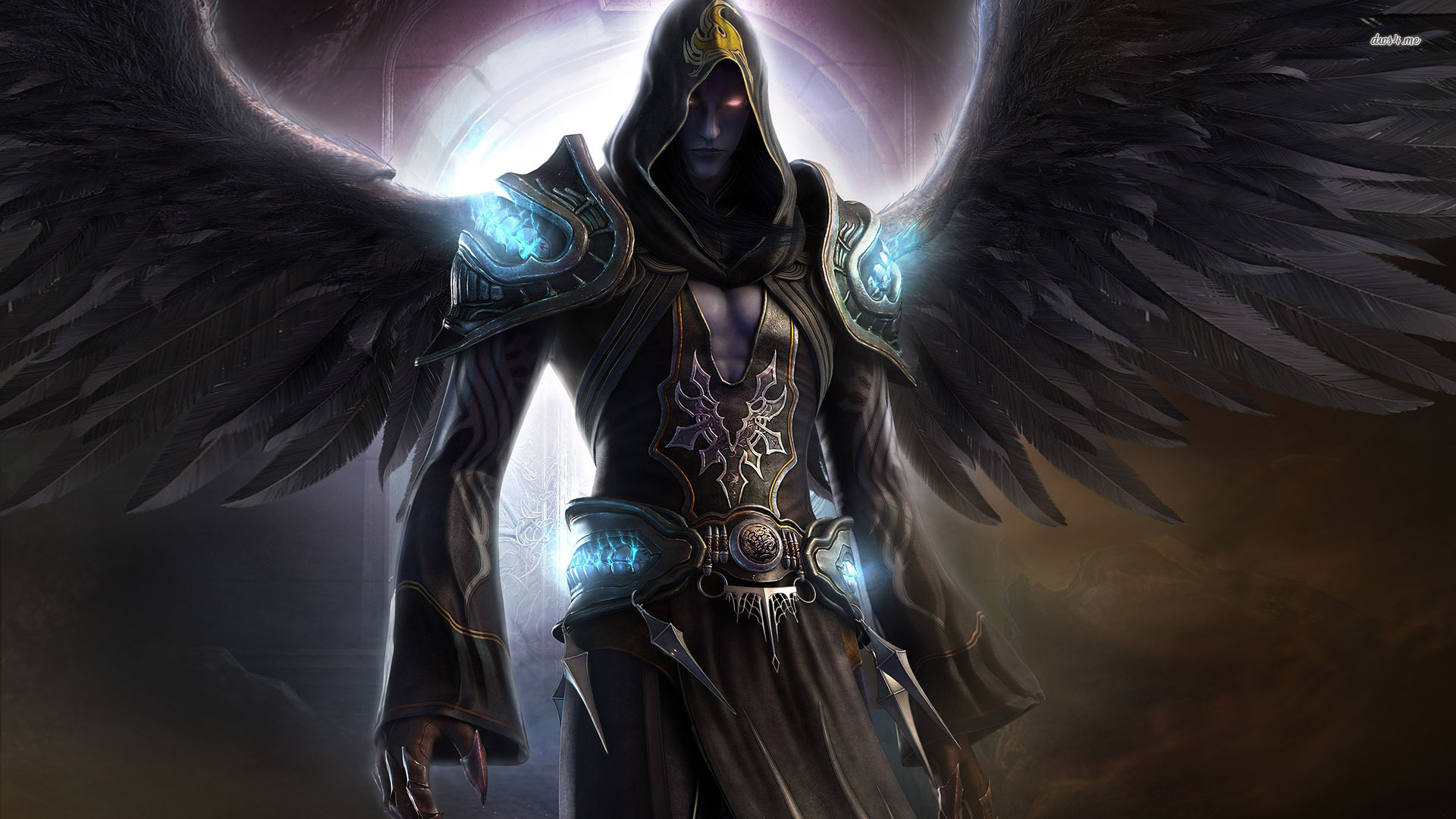 Exciting Black Angel Wallpaper 1920x1080px