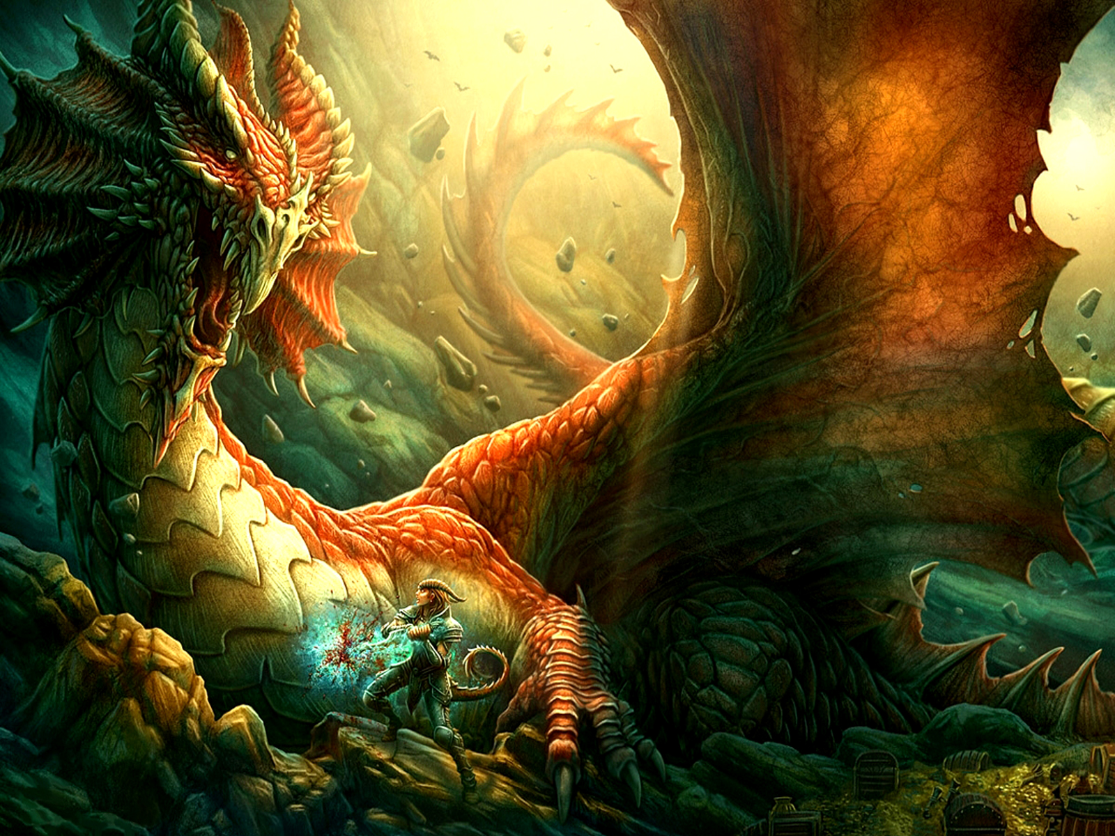 Free Fantasy Dragon Wallpaper Widescreen