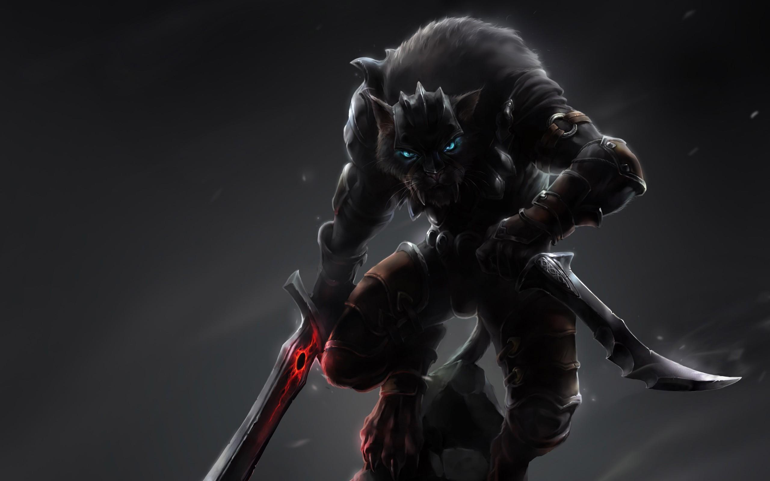 Fantasy feline warrior
