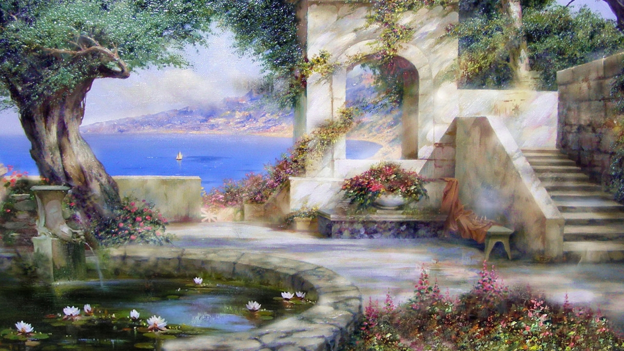 Fantasy Garden Wallpaper
