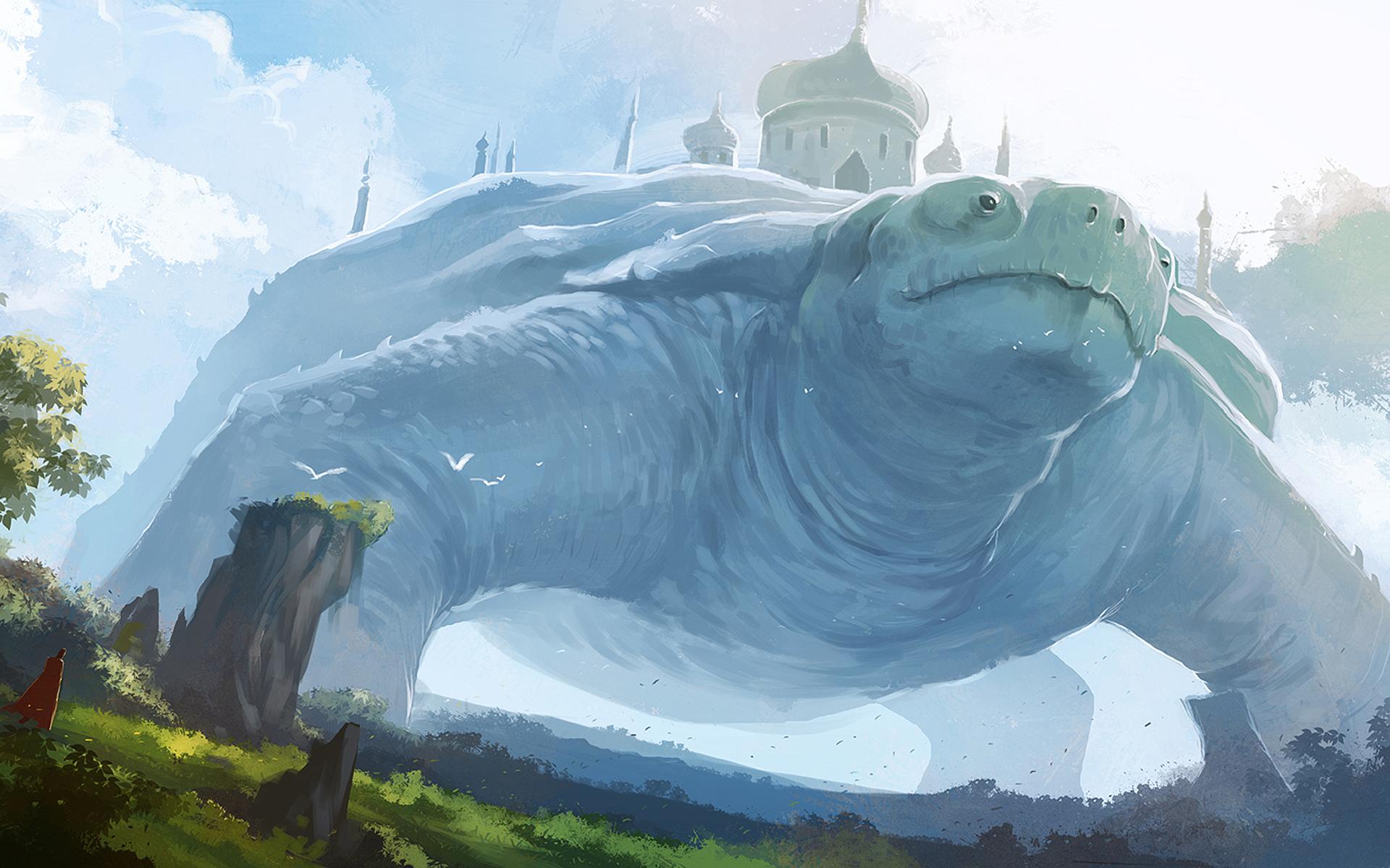 Fantasy giant turtle