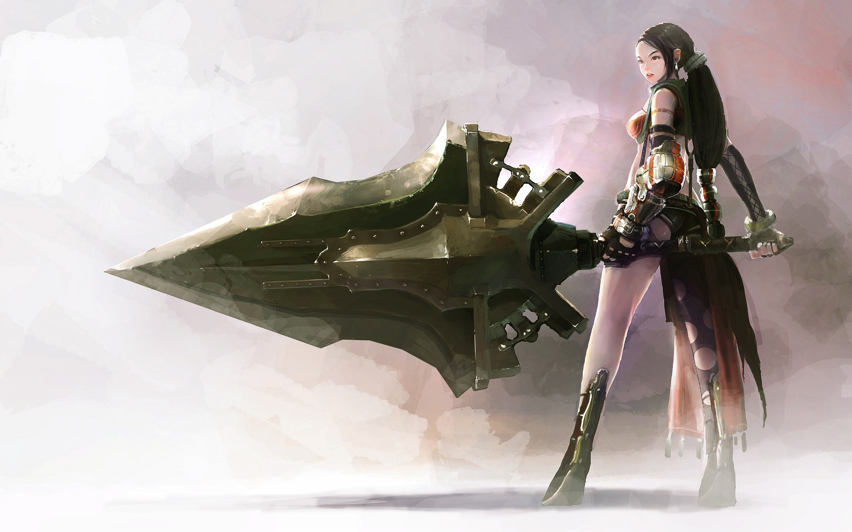 Fantasy girl sword