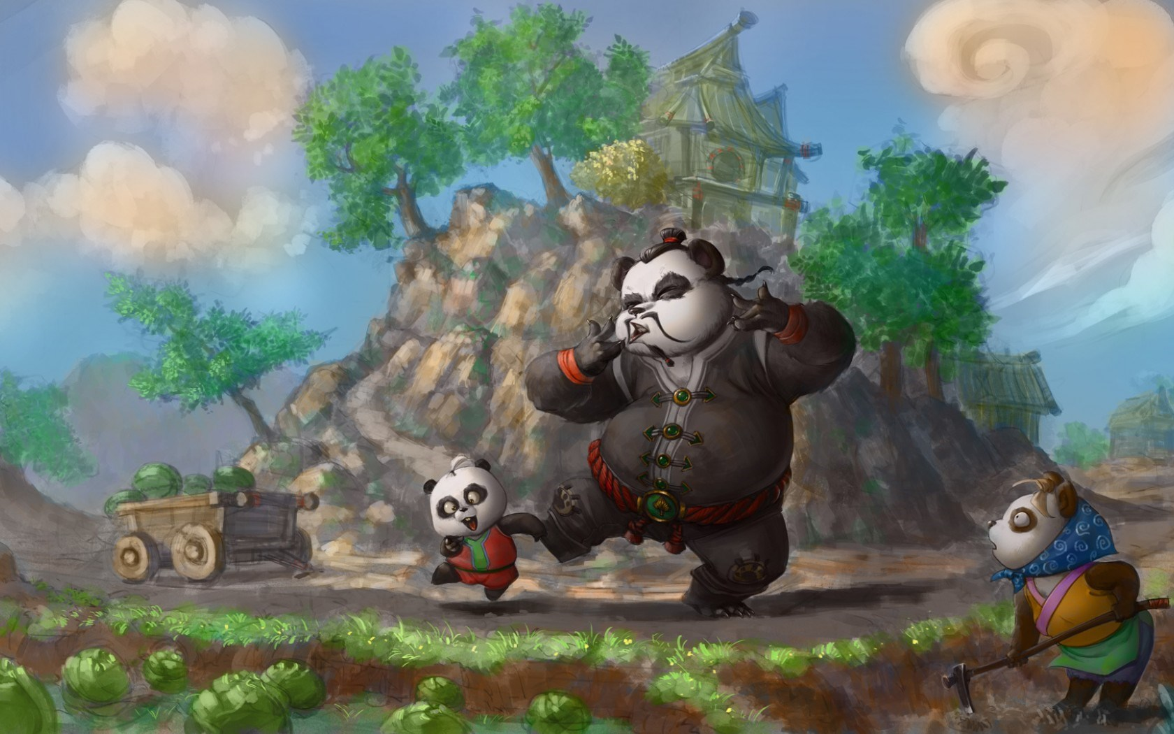 Fantasy Panda Cartoon Art