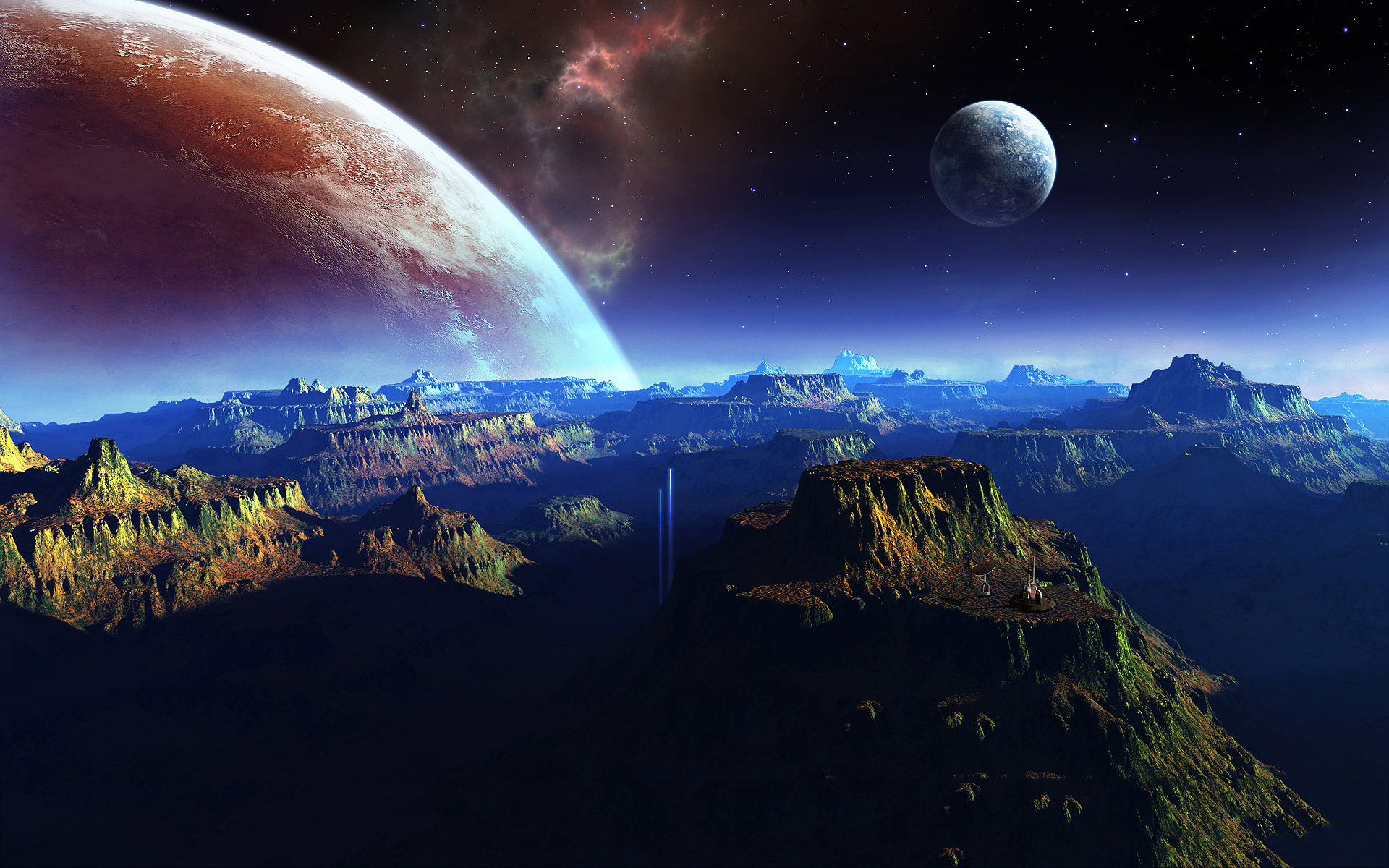 Fantasy planet space art