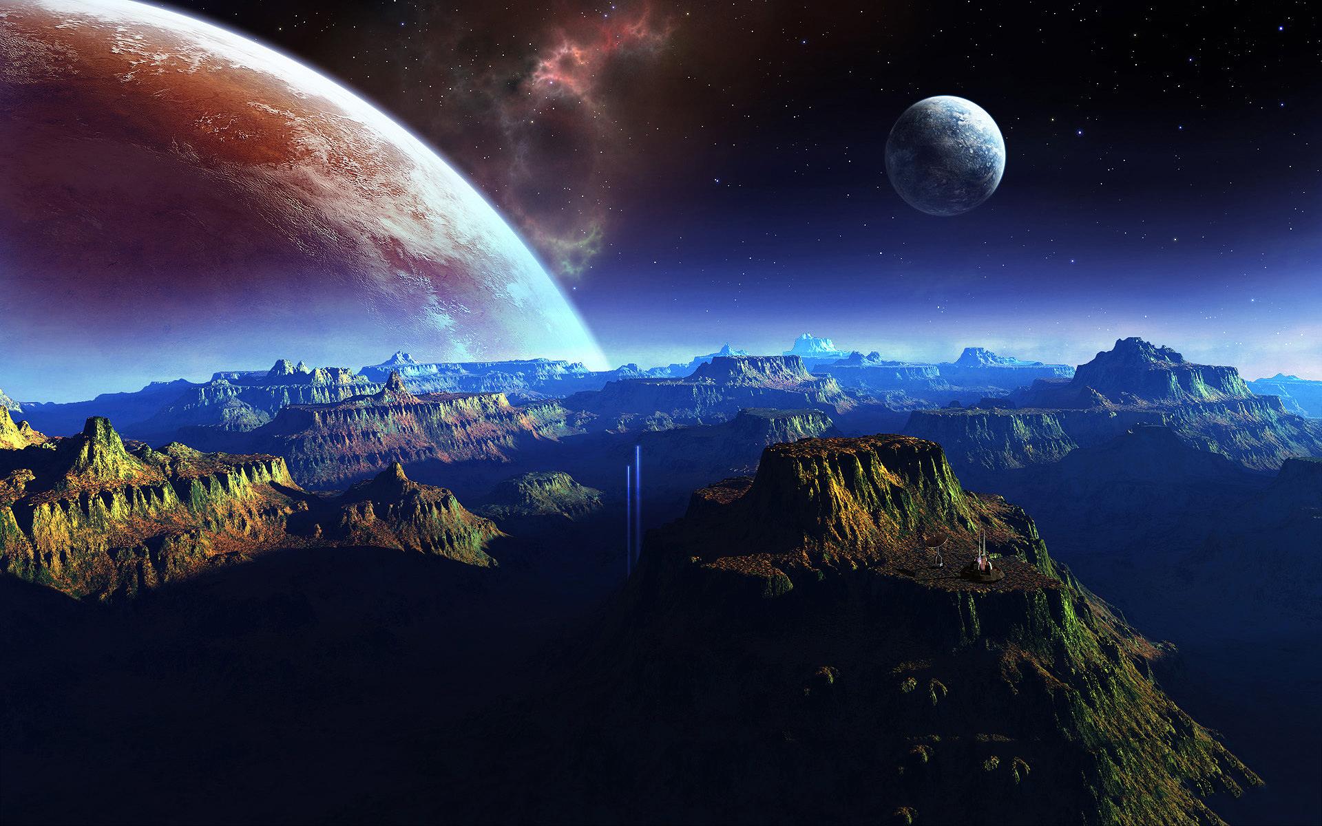 Fantasy planet space art