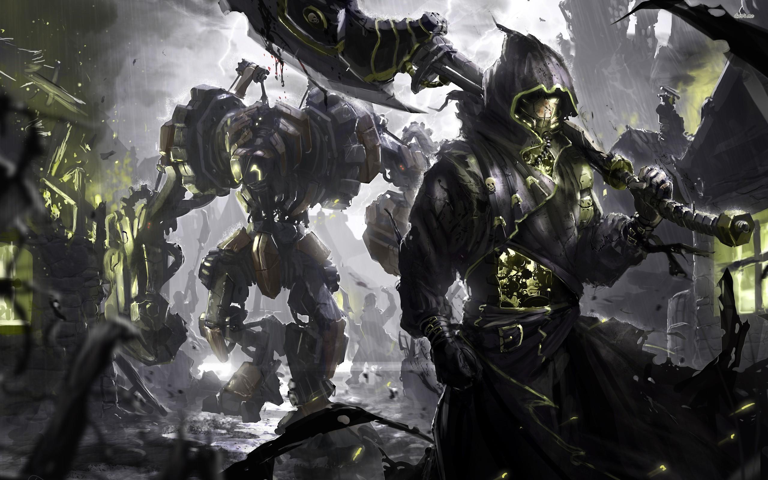 ... Robot warriors wallpaper 2560x1600 ...