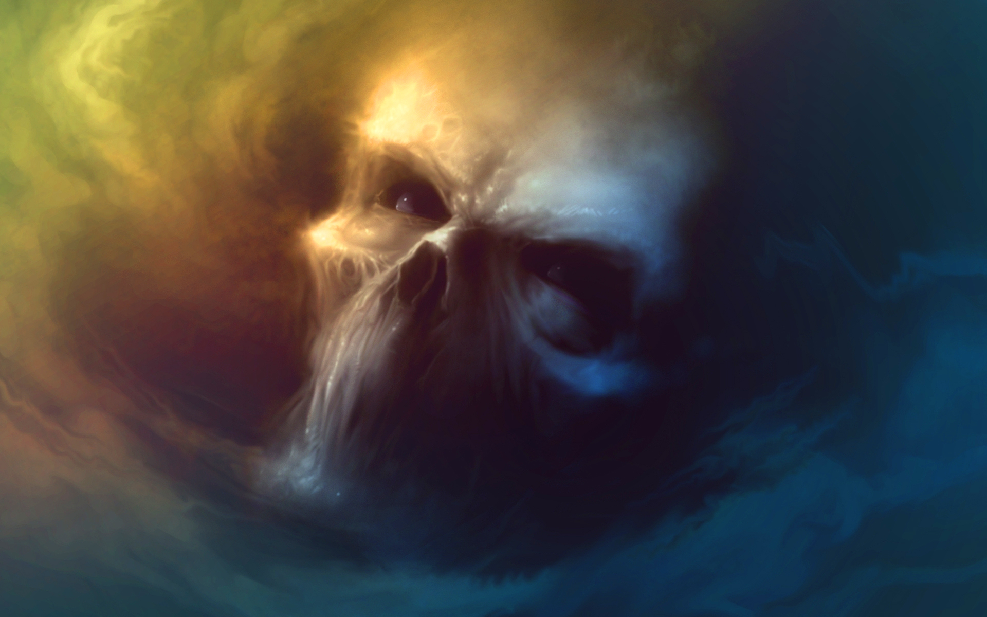 Fantasy smoke skull