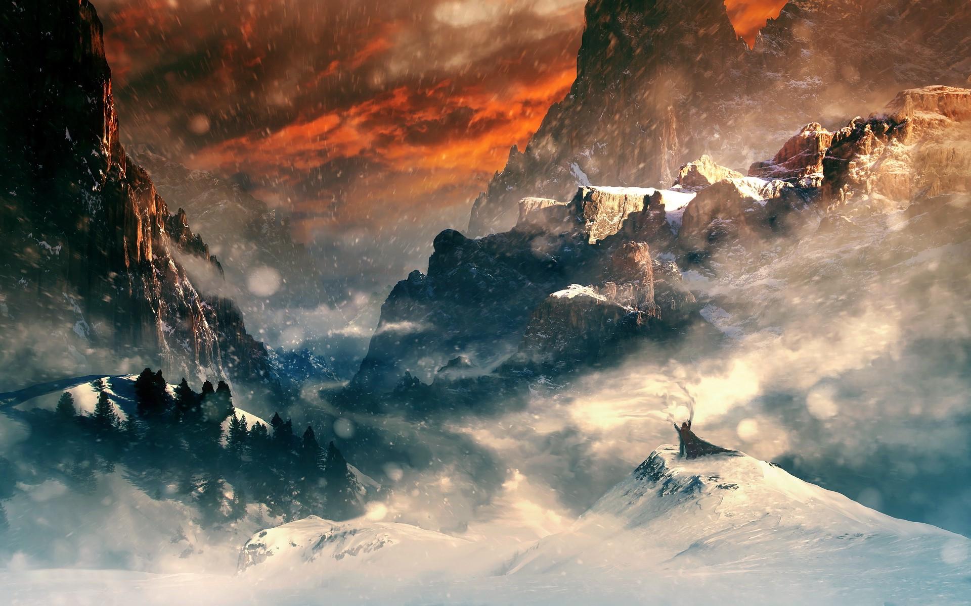 Fantasy snow world art