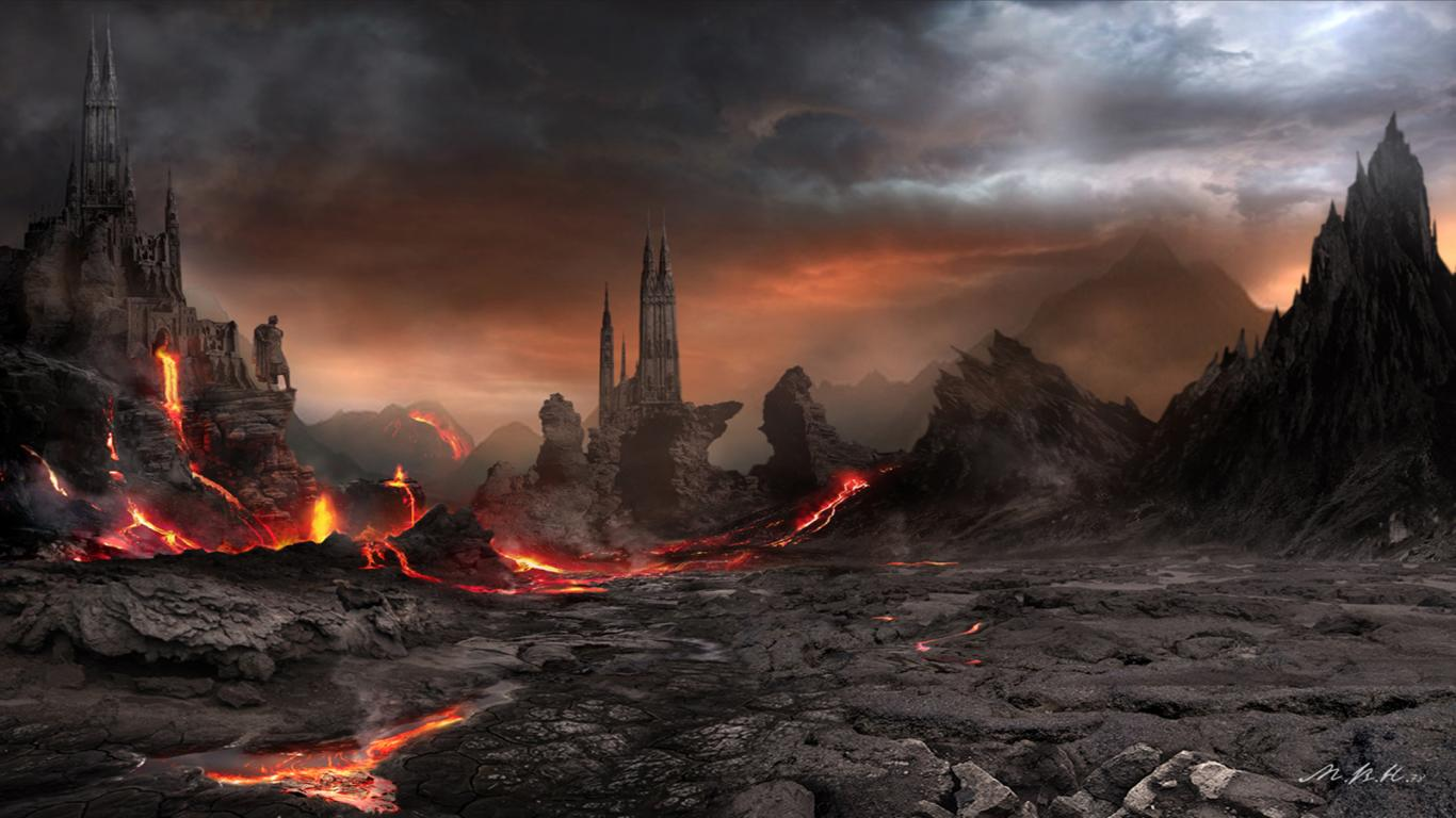 Fantasy Volcano Wallpaper