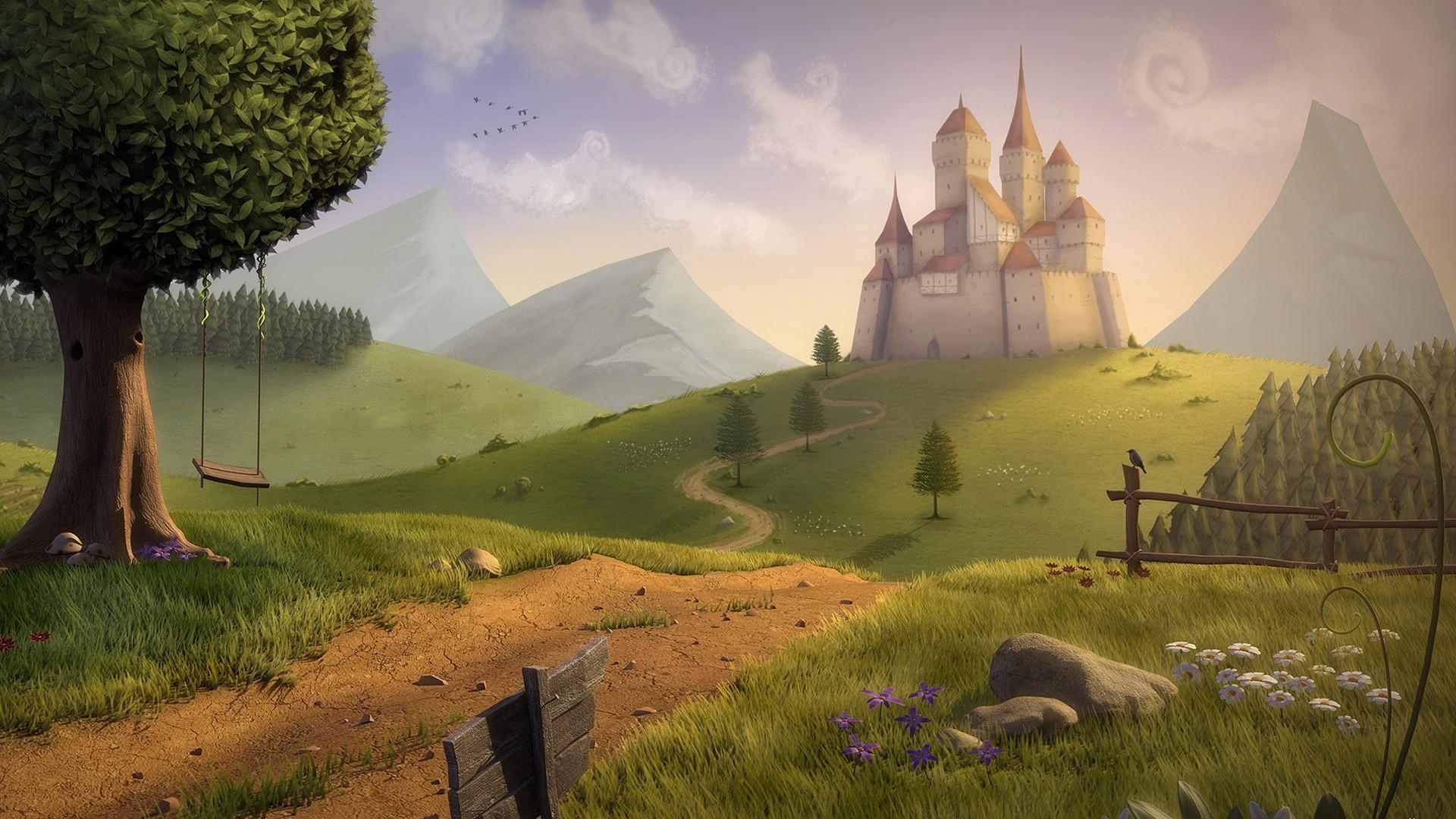 Fantasy Castle Wallpaper Widescreen HD