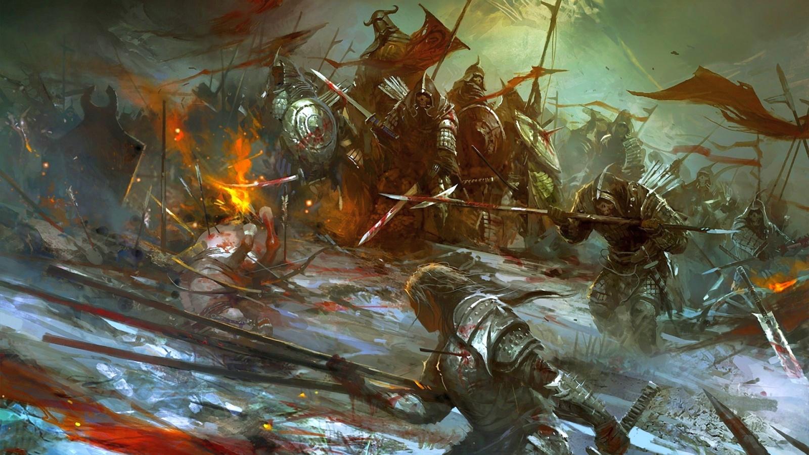 Description: The Wallpaper above is Fantasy warrior monsters battle Wallpaper in Resolution 1600x900. Choose your Resolution and Download Fantasy warrior ...