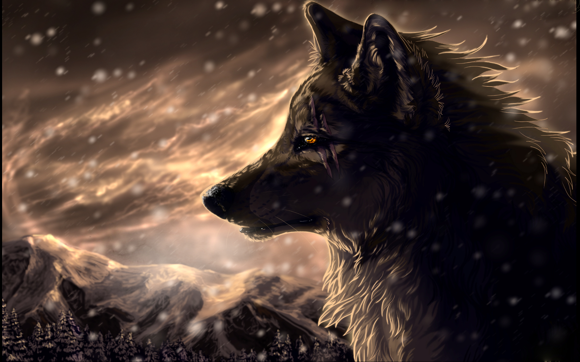 Fantasy Wolf wallpaper