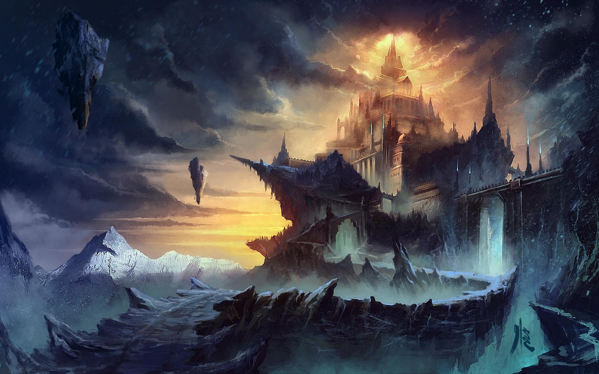 Fantasy world artwork