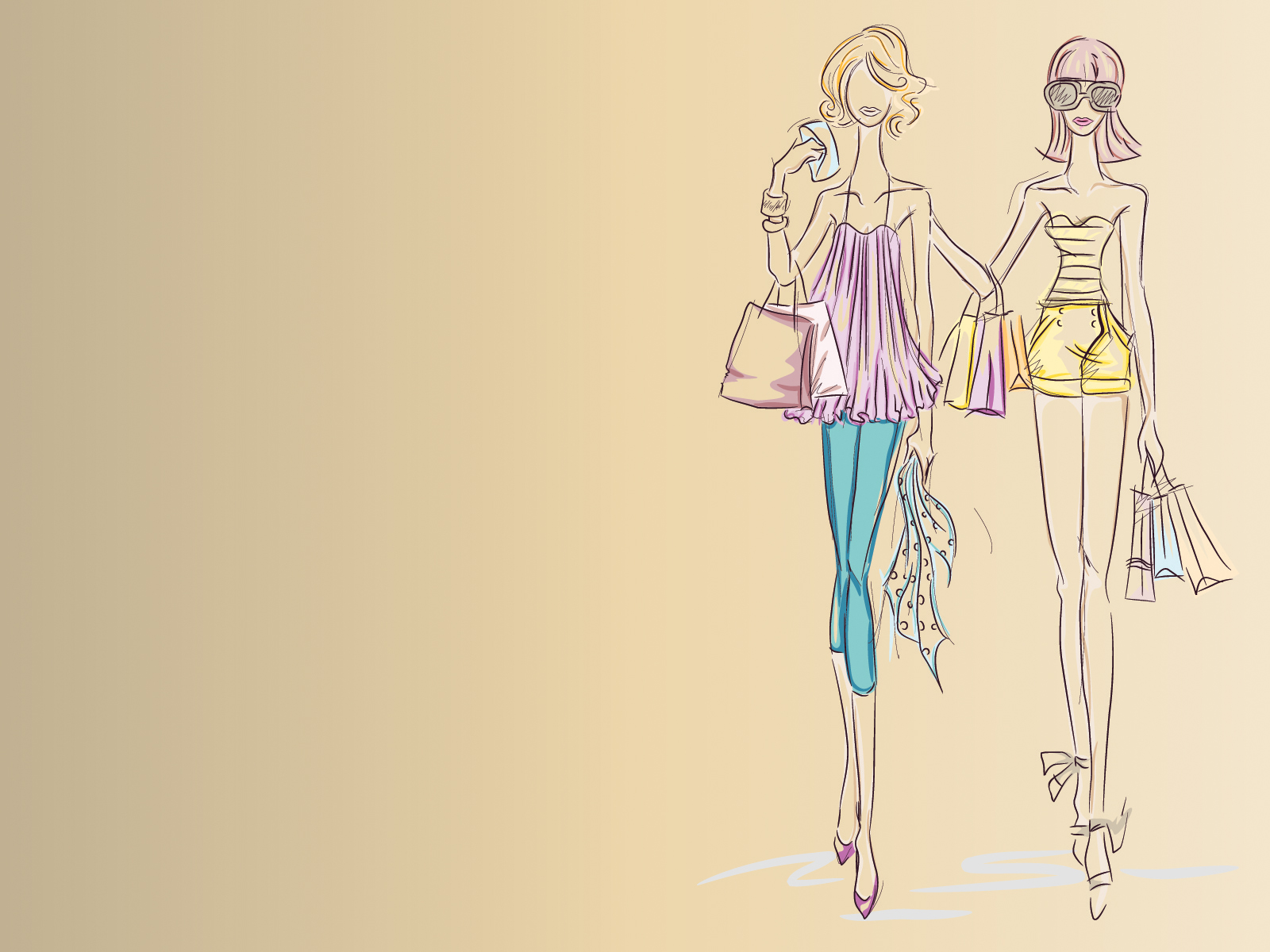 Fashion Magazines, Models Backgrounds