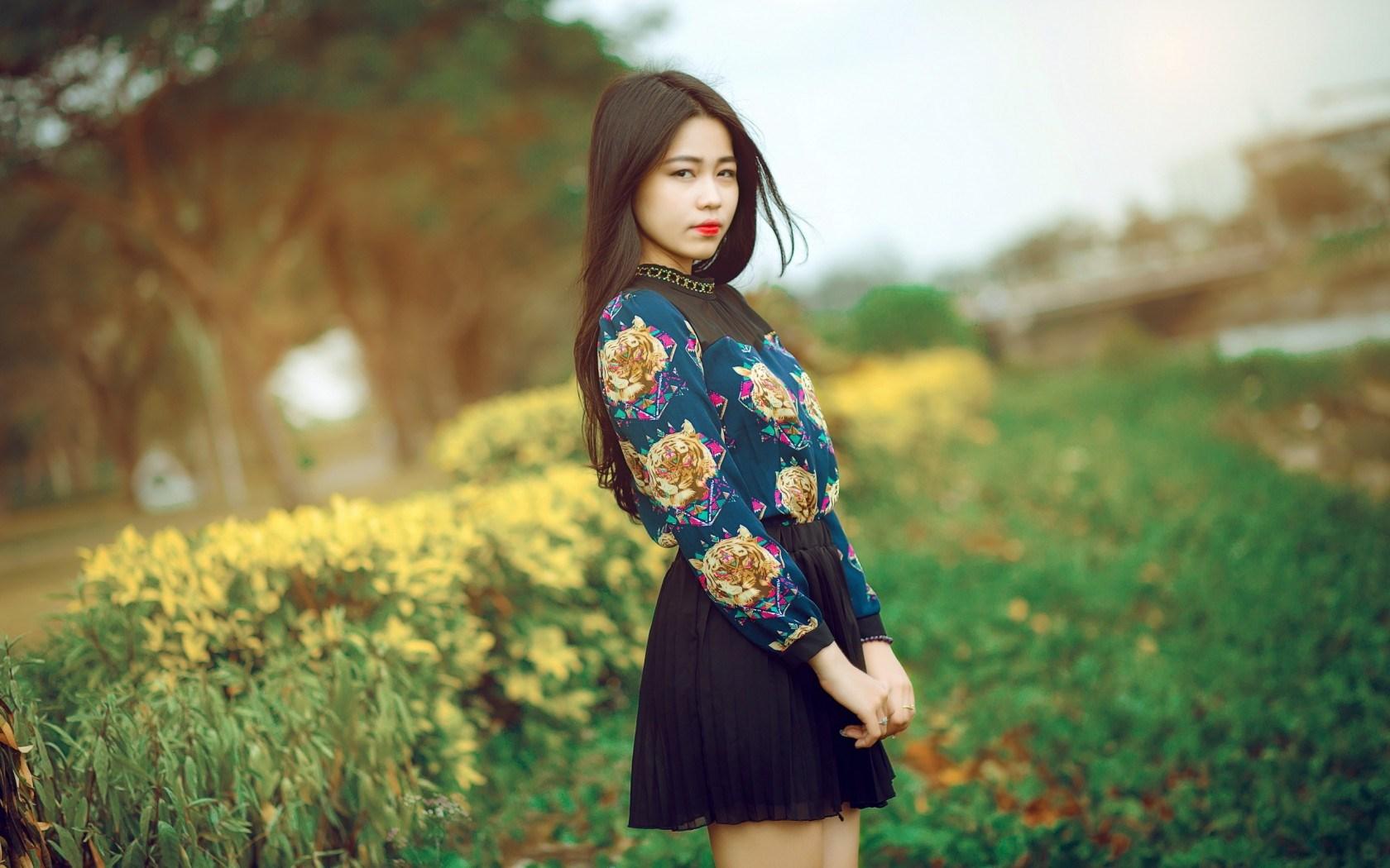 Fashion Girl Asian Brunette