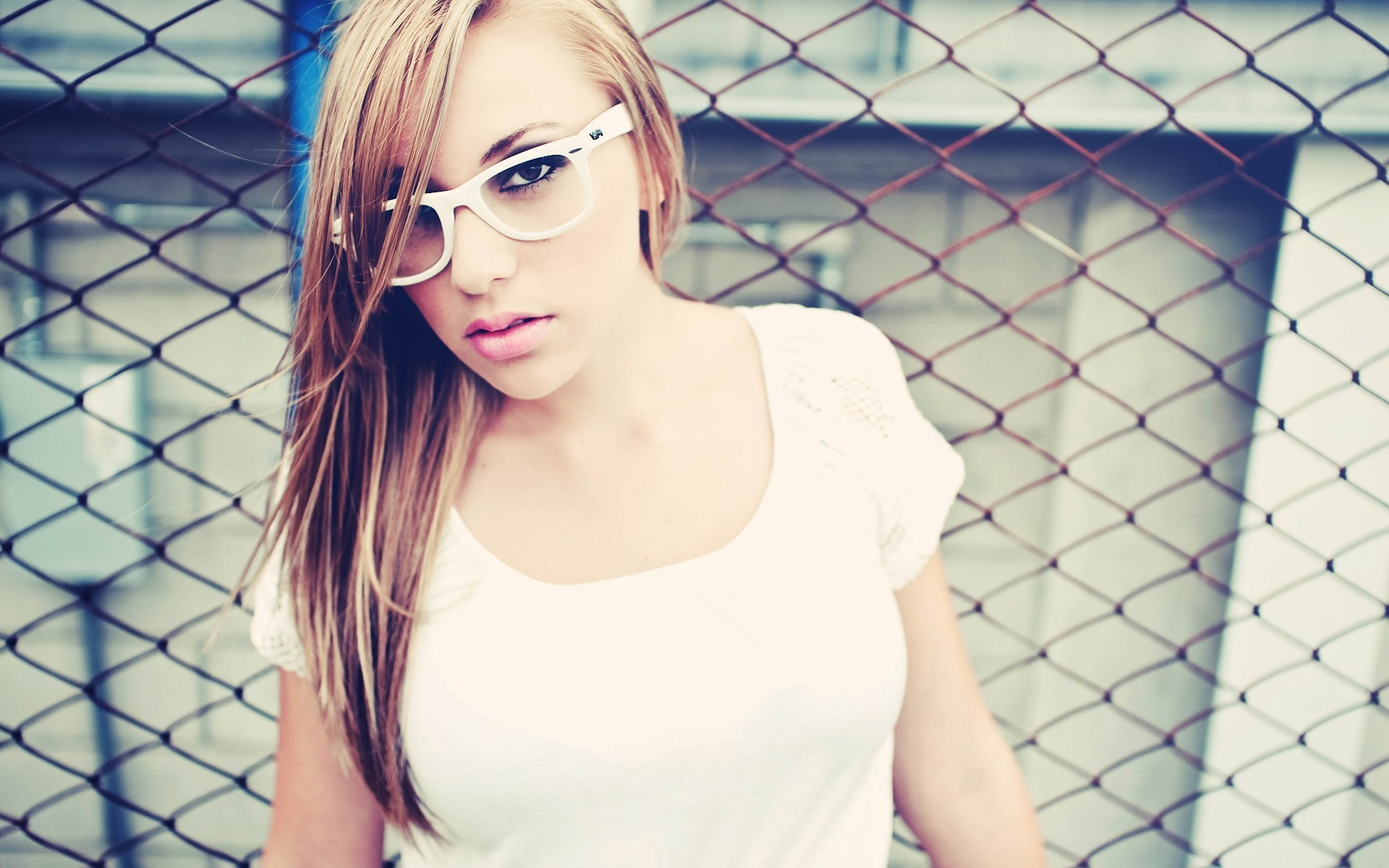 Fashion Model Girl Glasses