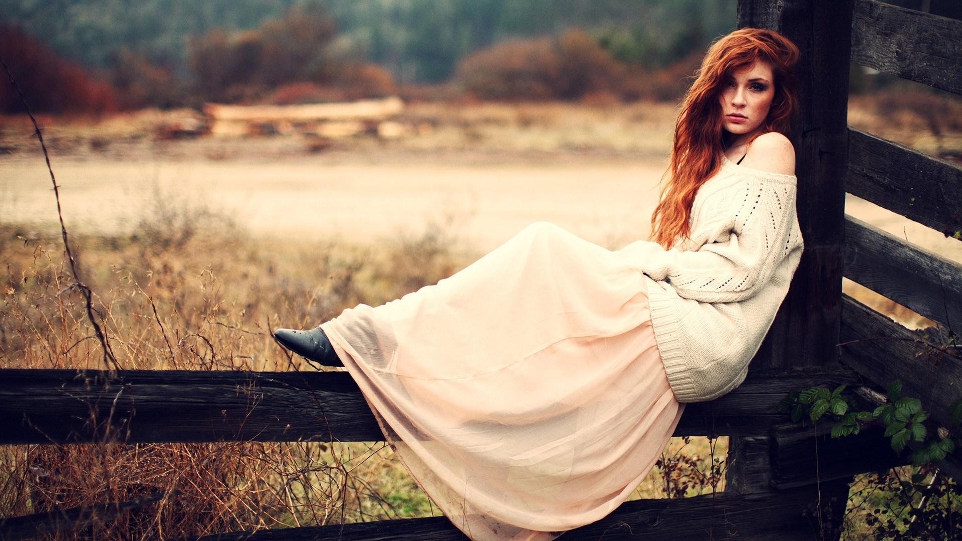 Fashion Model Redhead Look