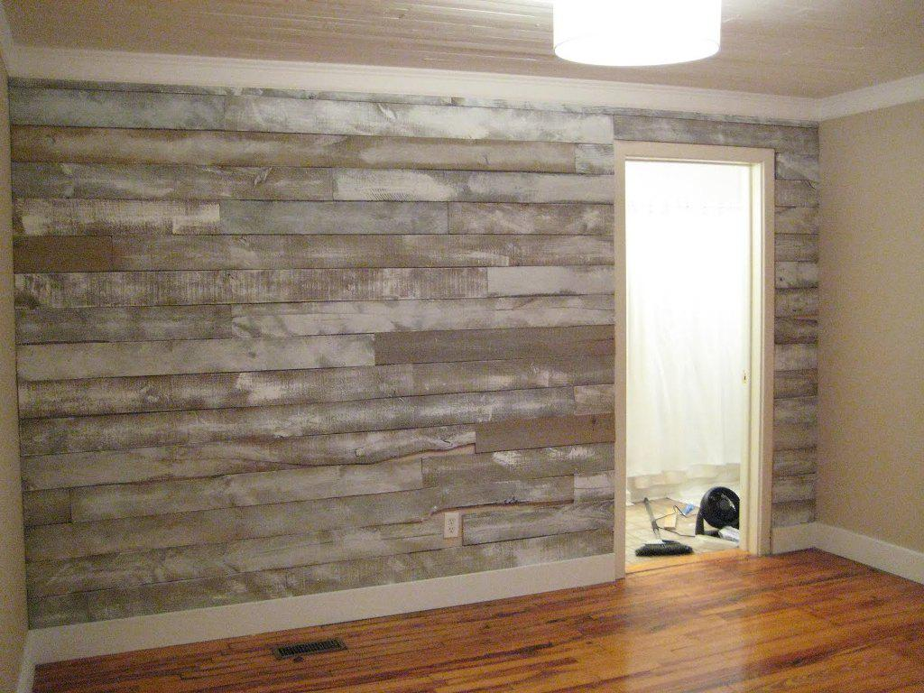 Faux Wood Wallpaper