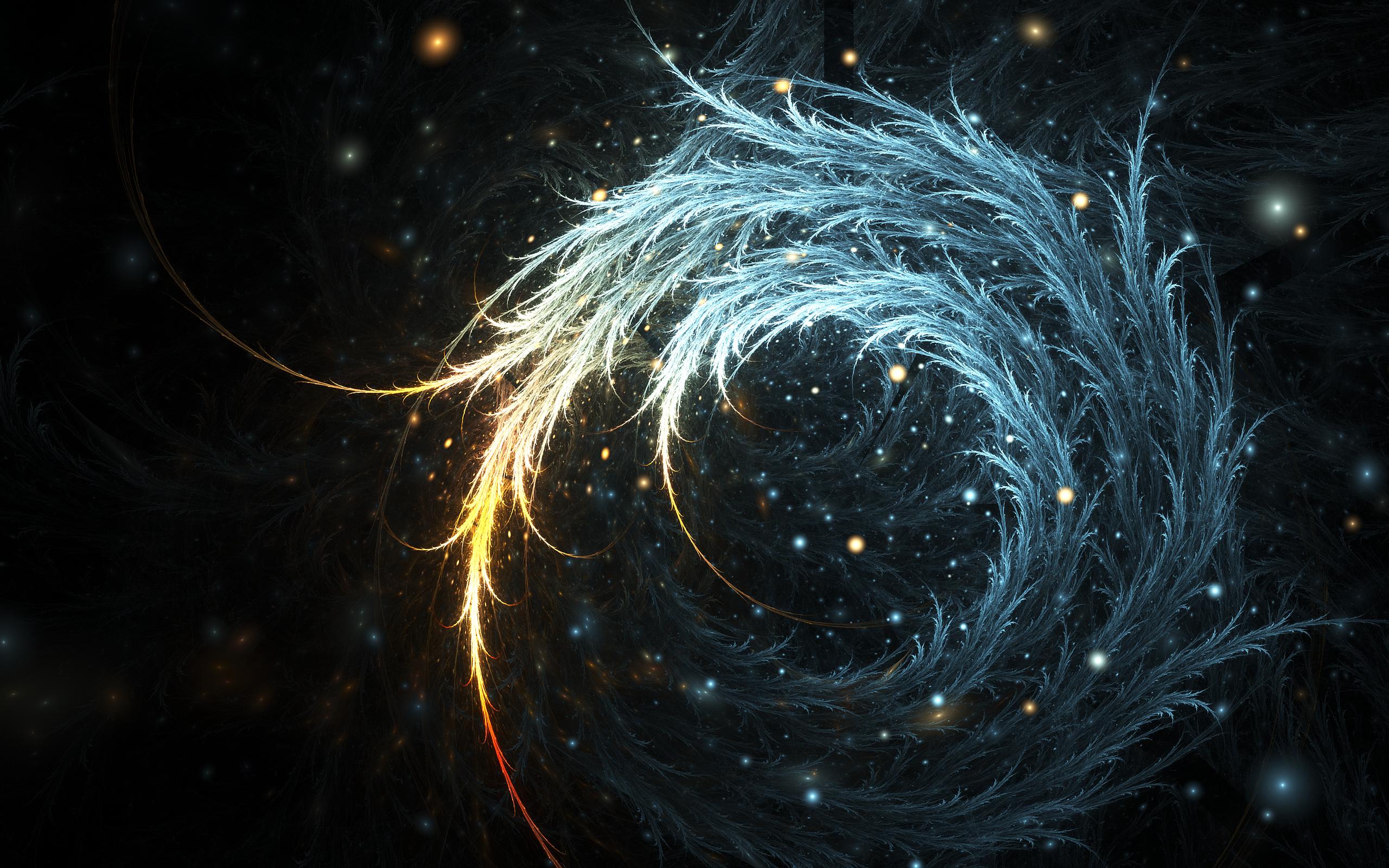 Swirling feathers wallpaper