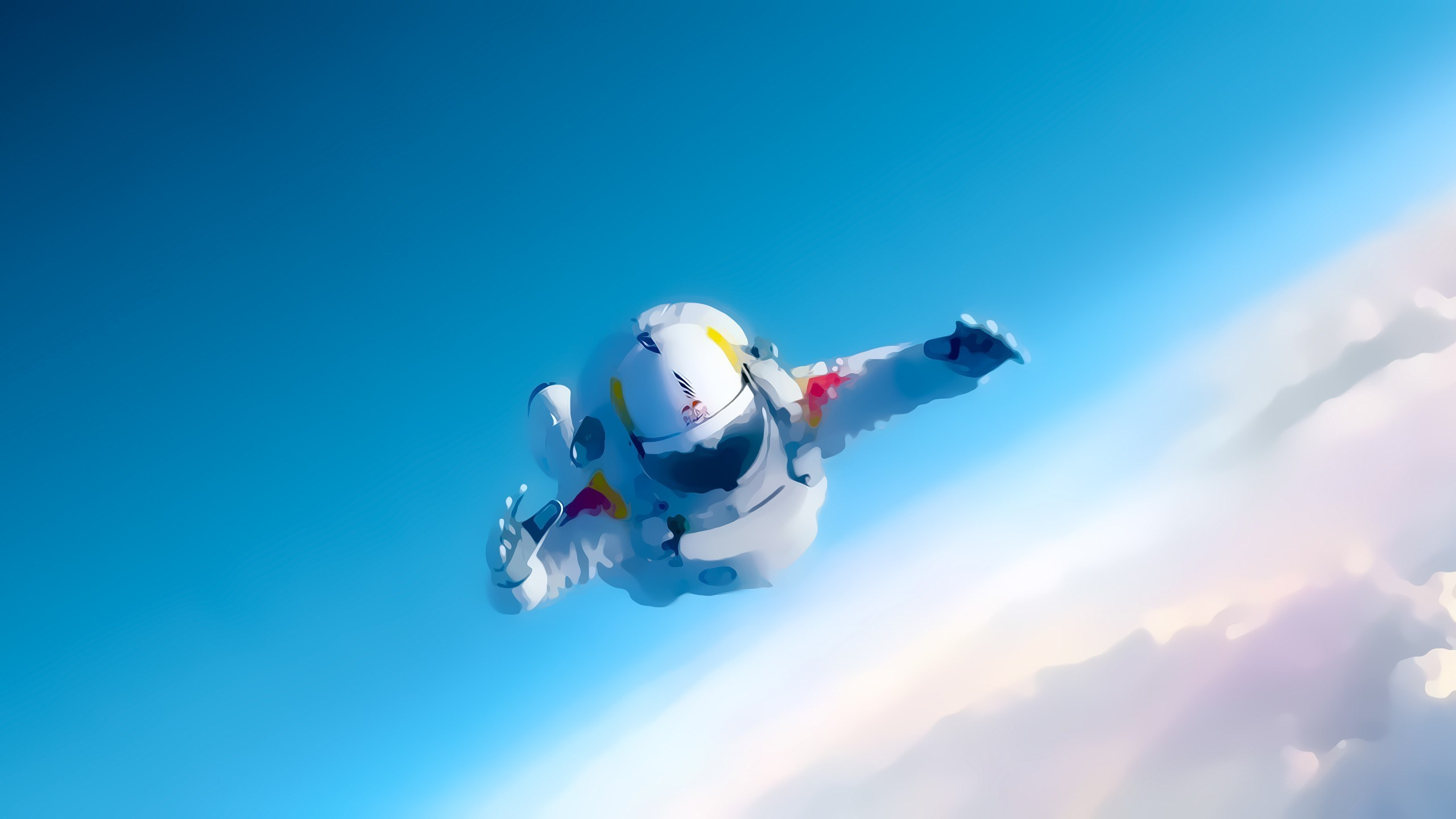 Felix Baumgartner Skydiver Art