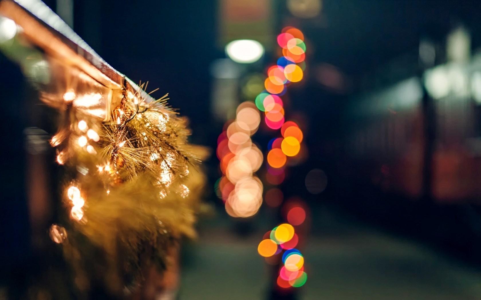 Fence Garland Lights City Holiday