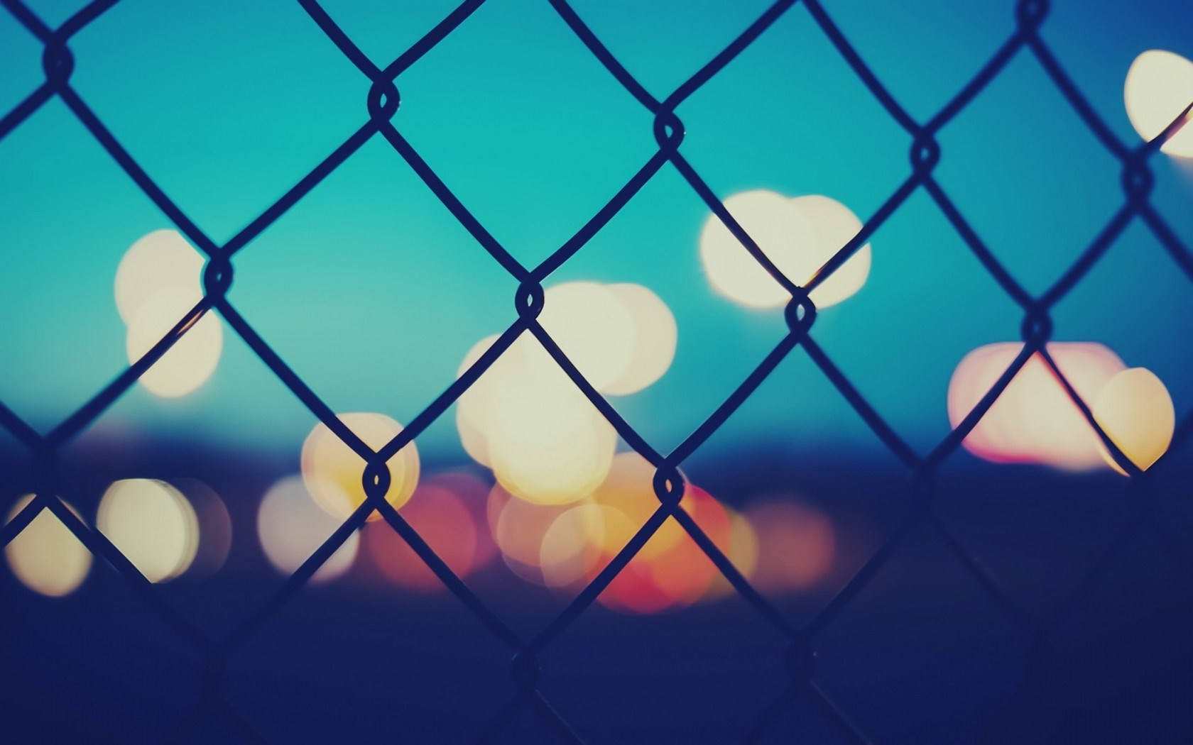 Fence Lights Bokeh