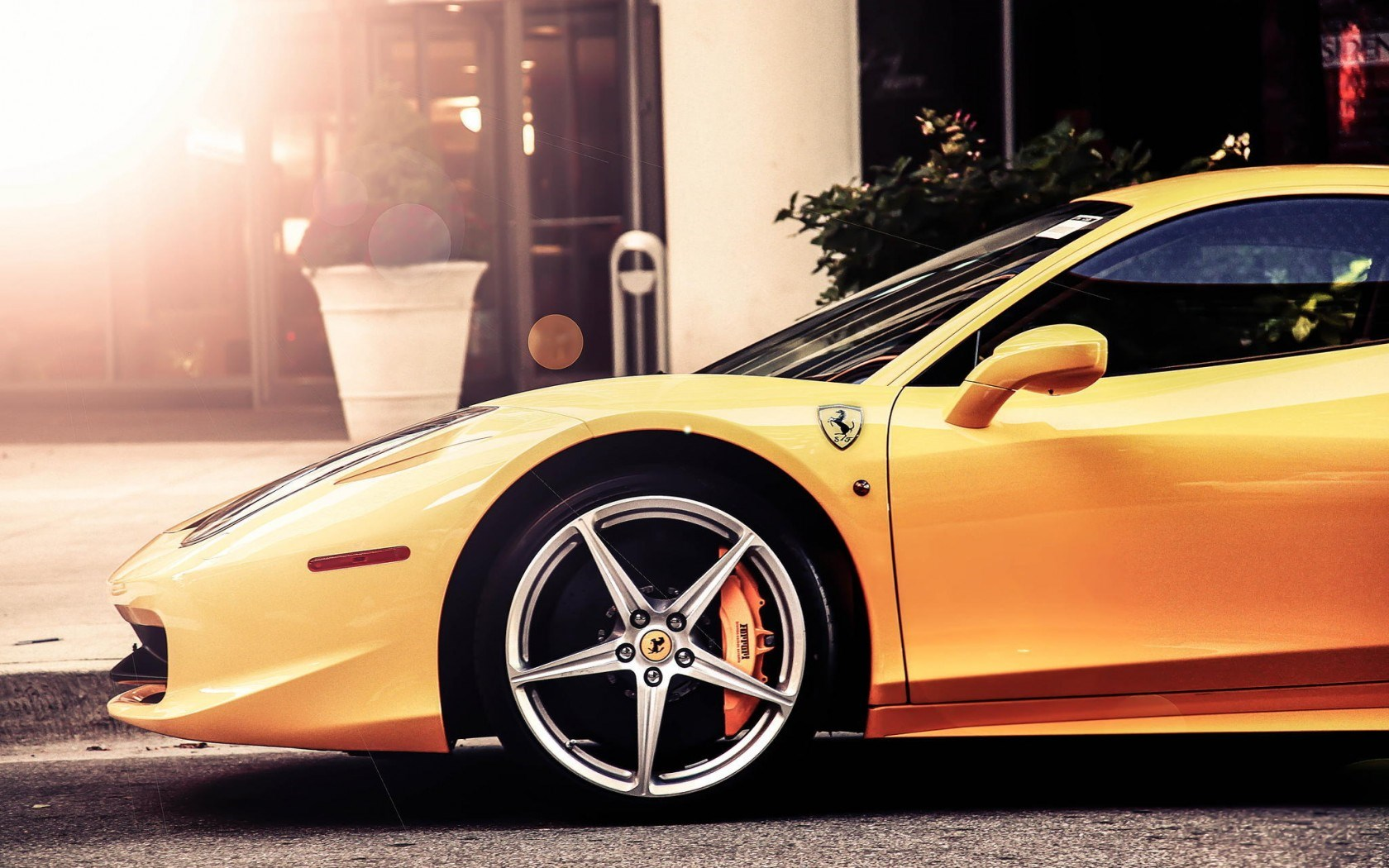 Ferrari 458 Italia Car Yellow Street