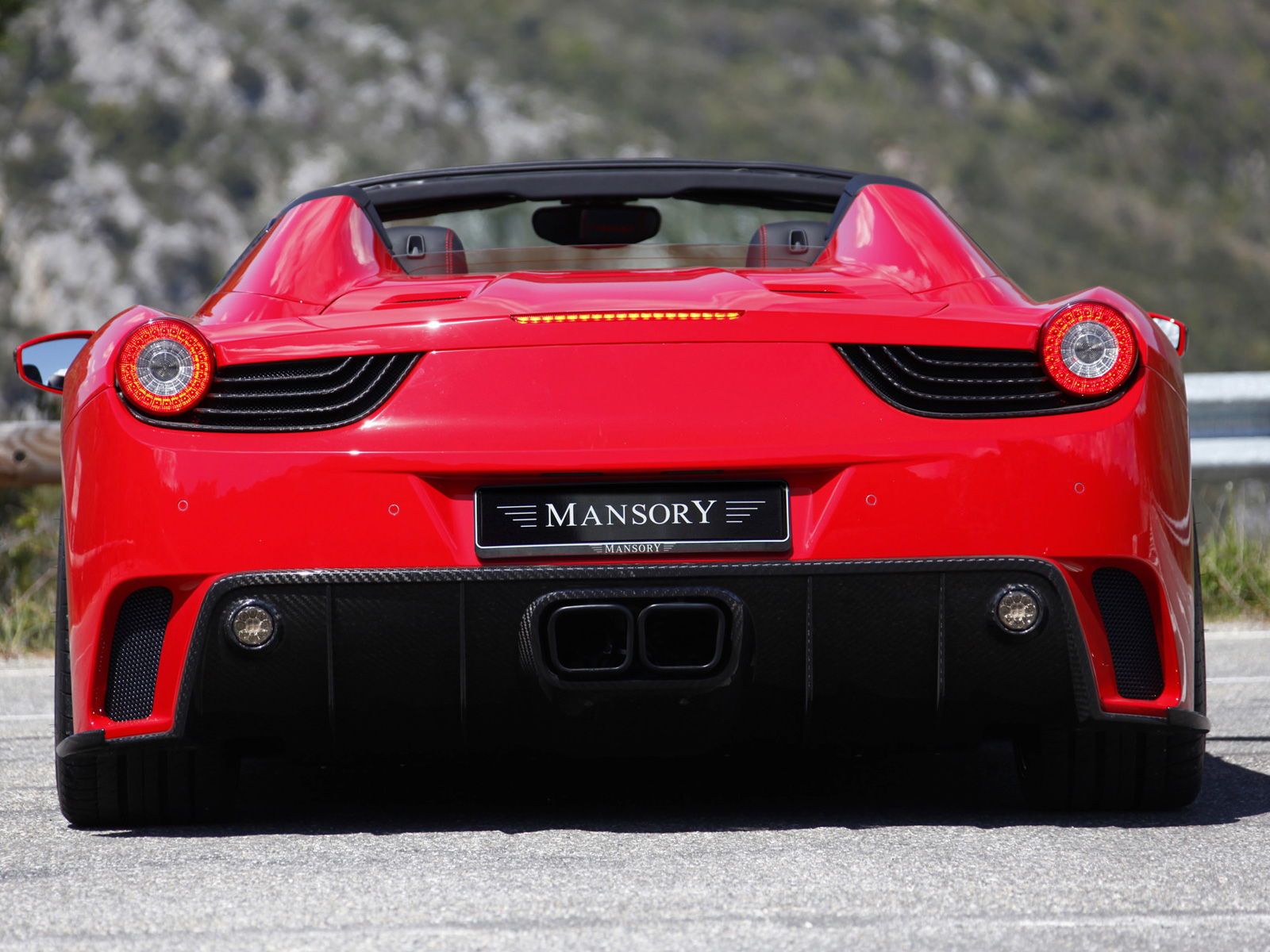 2012 Mansory Ferrari 458 Spider - Rear View