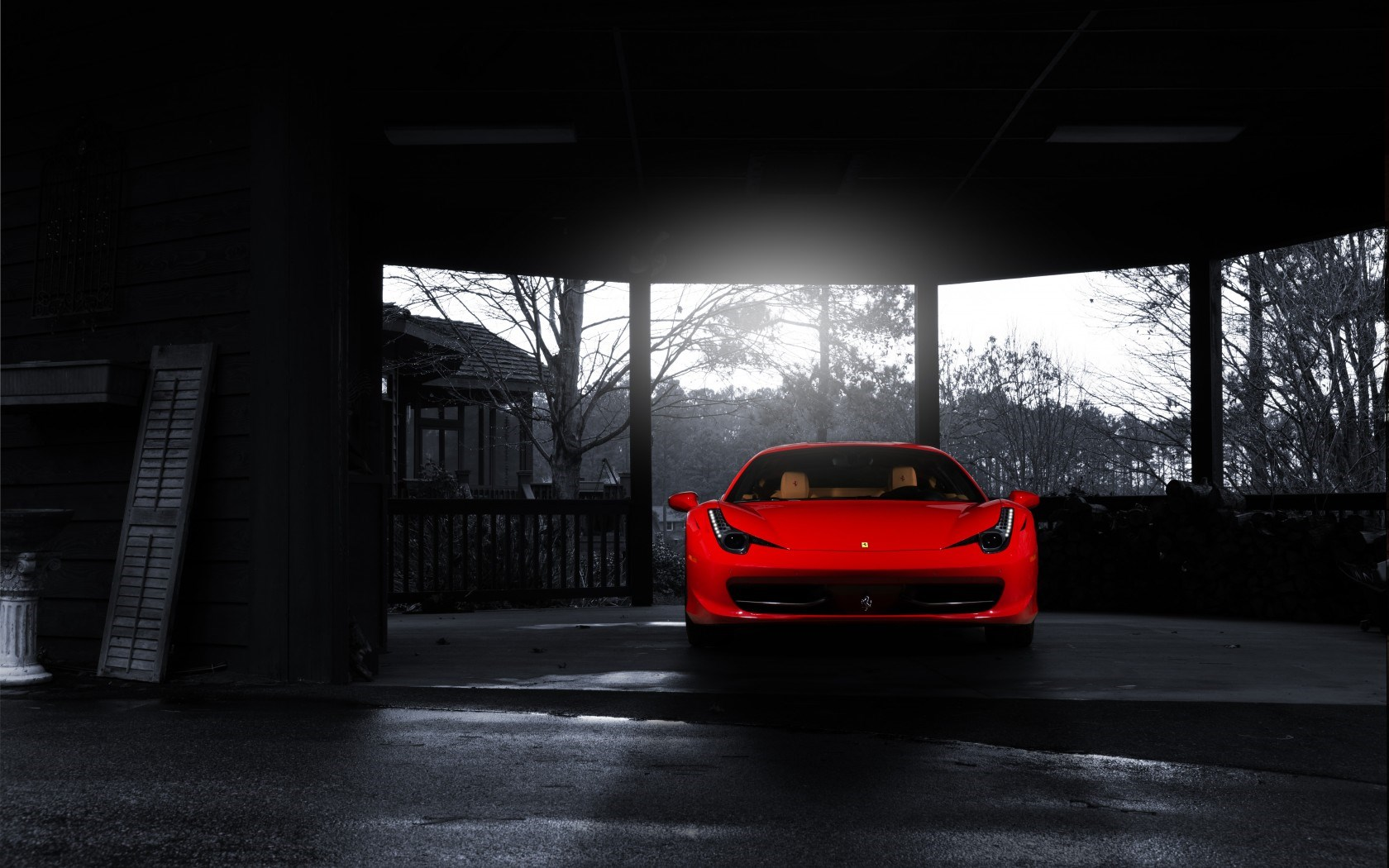 Ferrari 458 Red Car Front