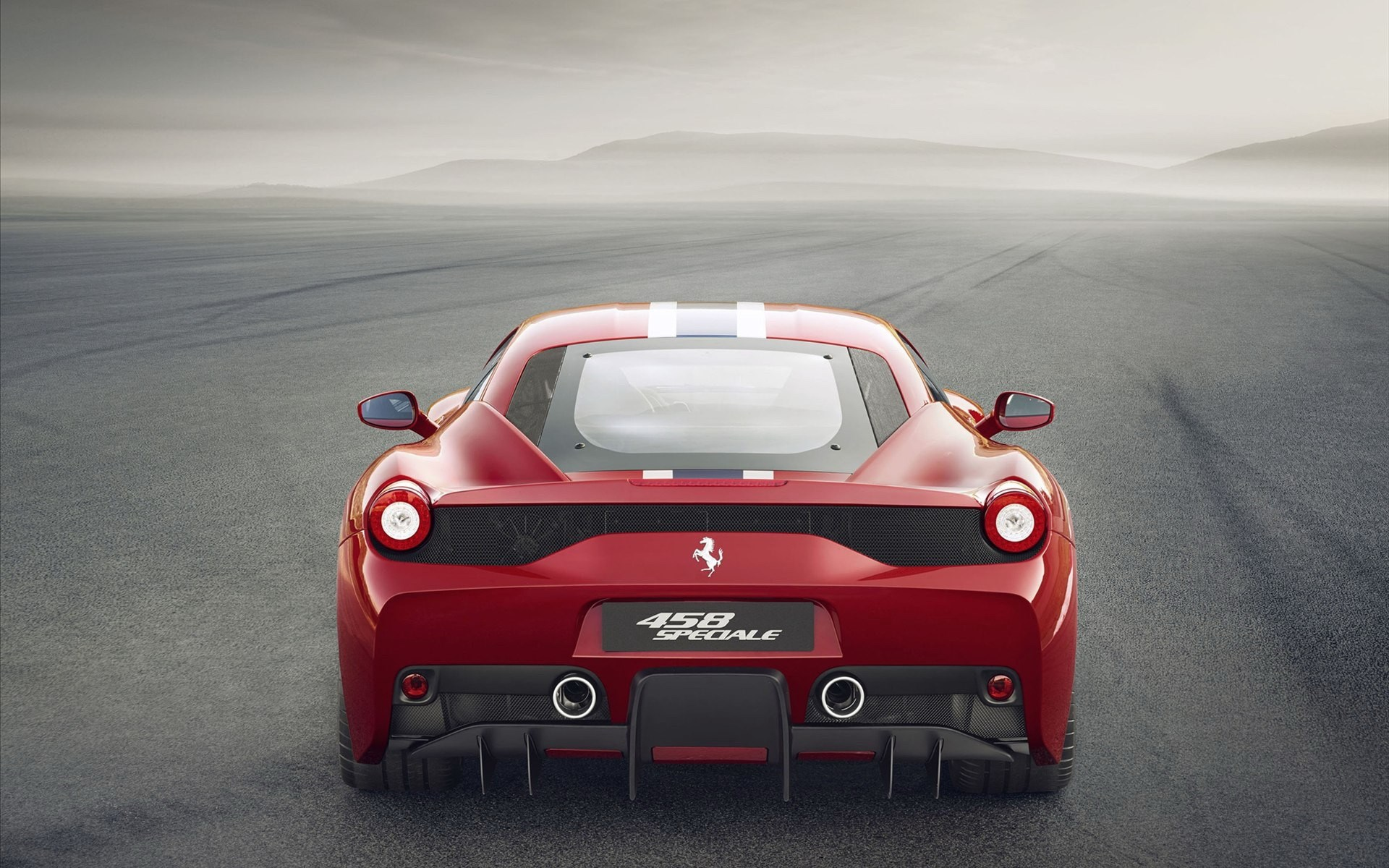 Ferrari 458 Speciale Back 2014