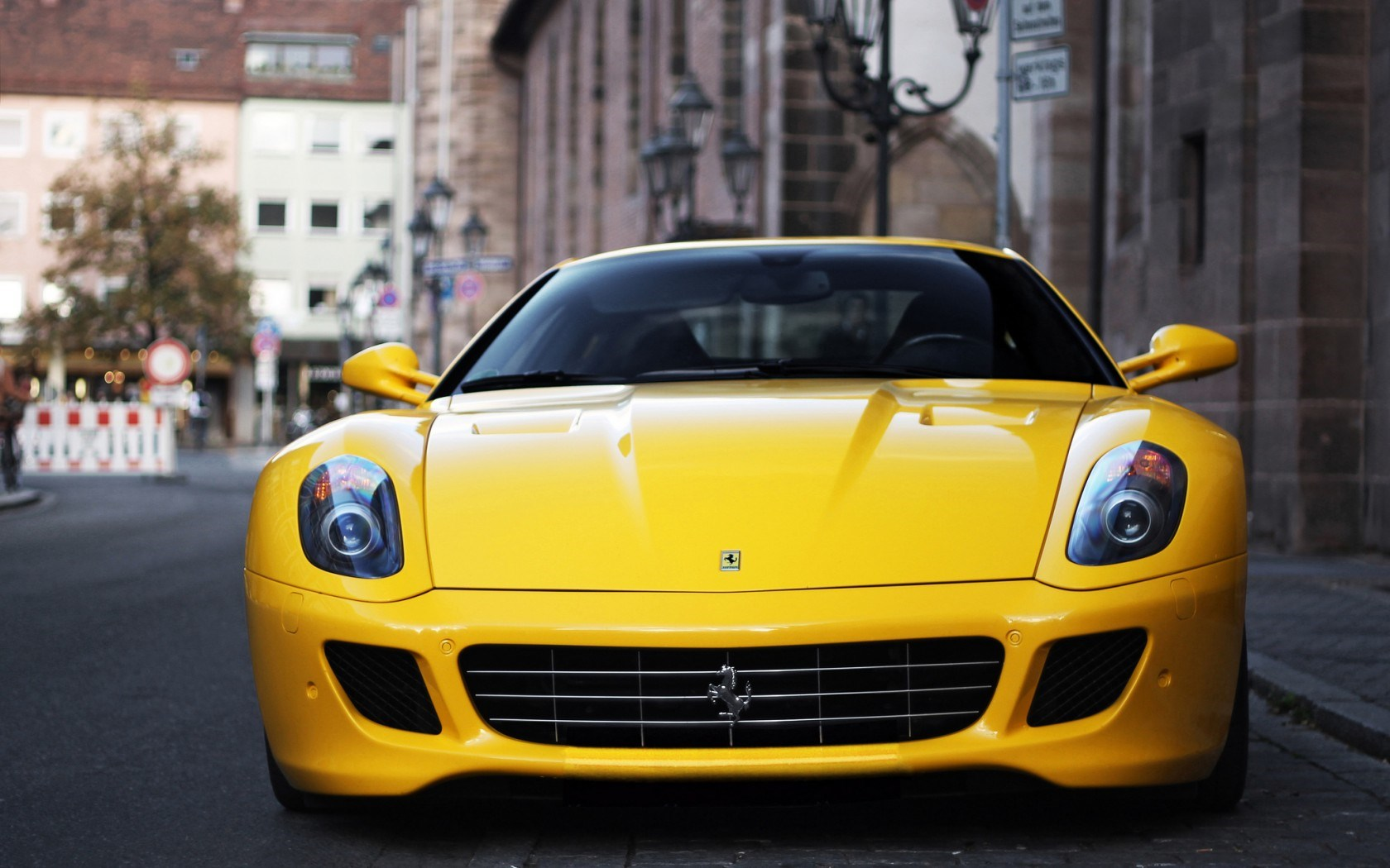 Ferrari 599 Gtb Fiorano Yellow Car