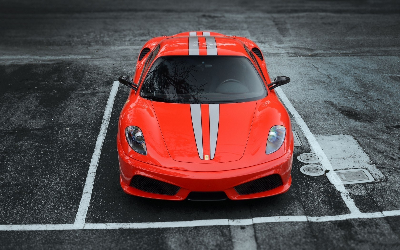 Ferrari F430 Scuderia Front Car Parking HD Wallpaper