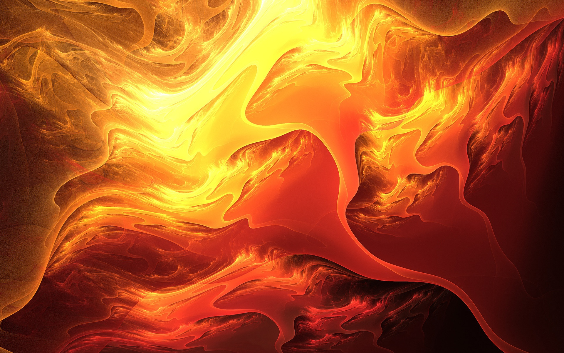 Abstraction fiery colors of lava wallpaper 1920x1200.